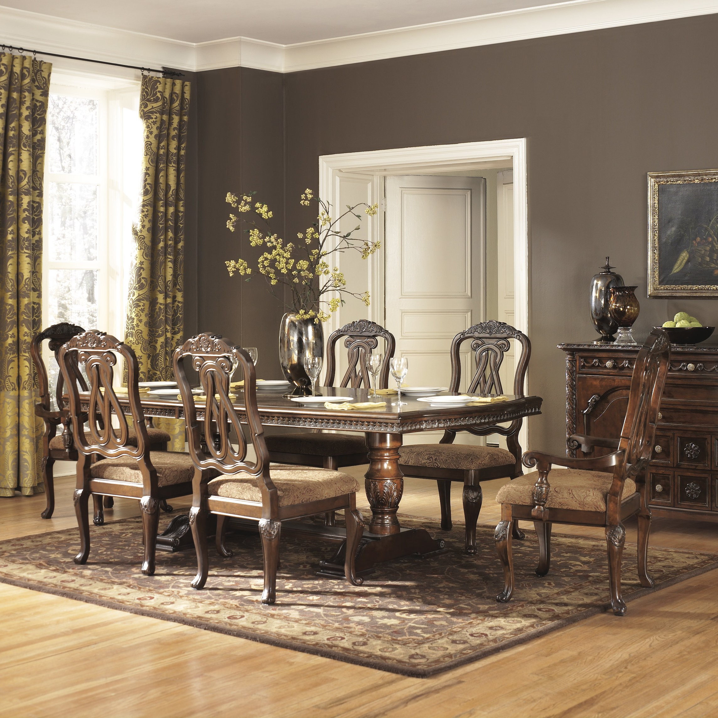 Latest Clemson Rectangular 7 Piece Dining Set Throughout Queener 5 Piece Dining Sets (View 8 of 20)