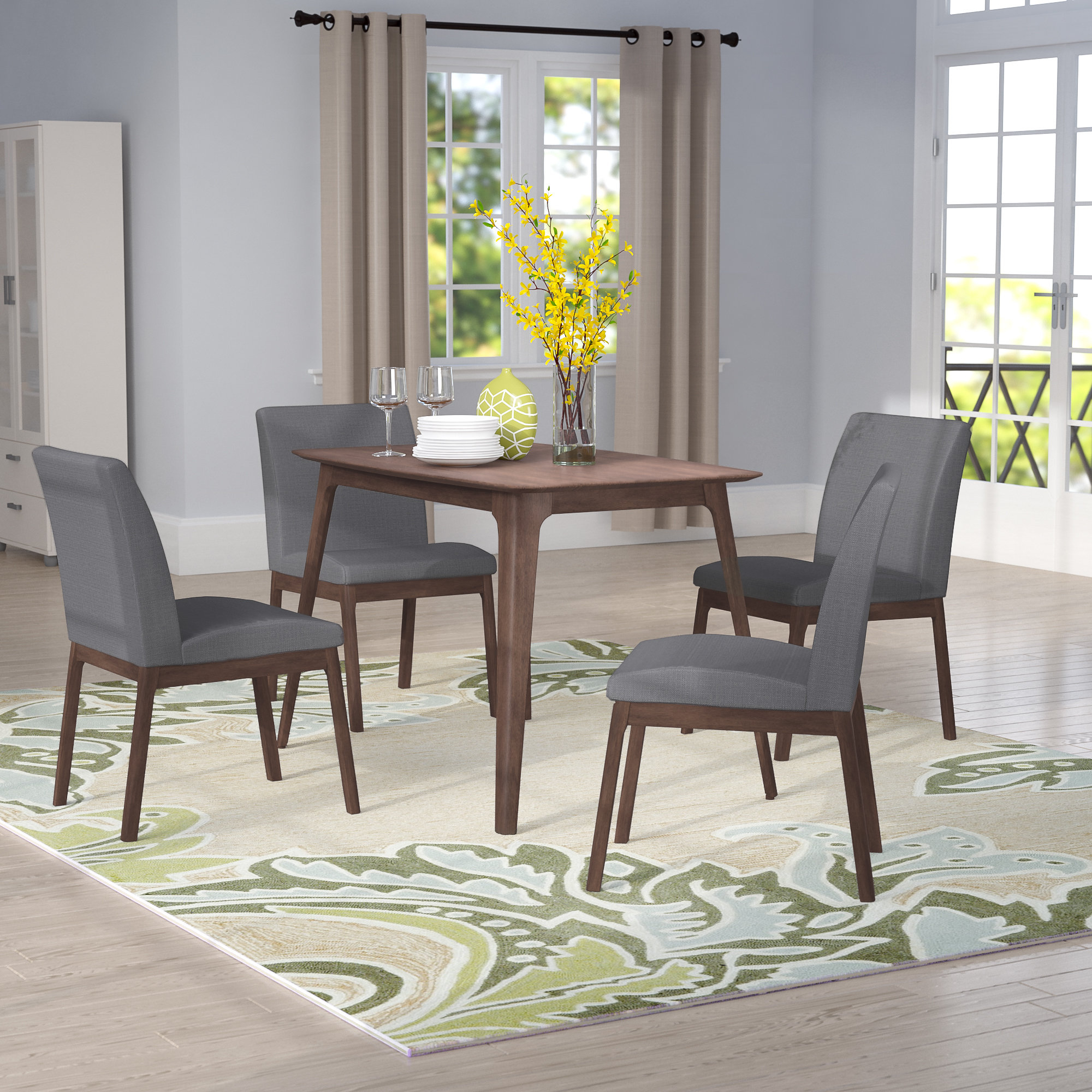 Latest Liles 5 Piece Breakfast Nook Dining Sets With Regard To Tunis 5 Piece Dining Set (View 10 of 20)