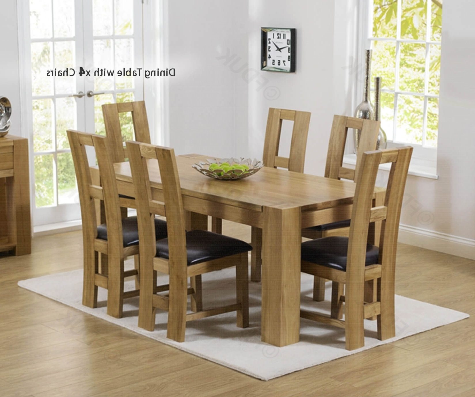 Latest Mark Harris Tampa Solid Oak Dining Set – 150Cm Rectangular With 4 John  Louis Brown Chairs Fduk Best Price Guarantee We Will Beat Our Competitors With John 4 Piece Dining Sets (View 12 of 20)