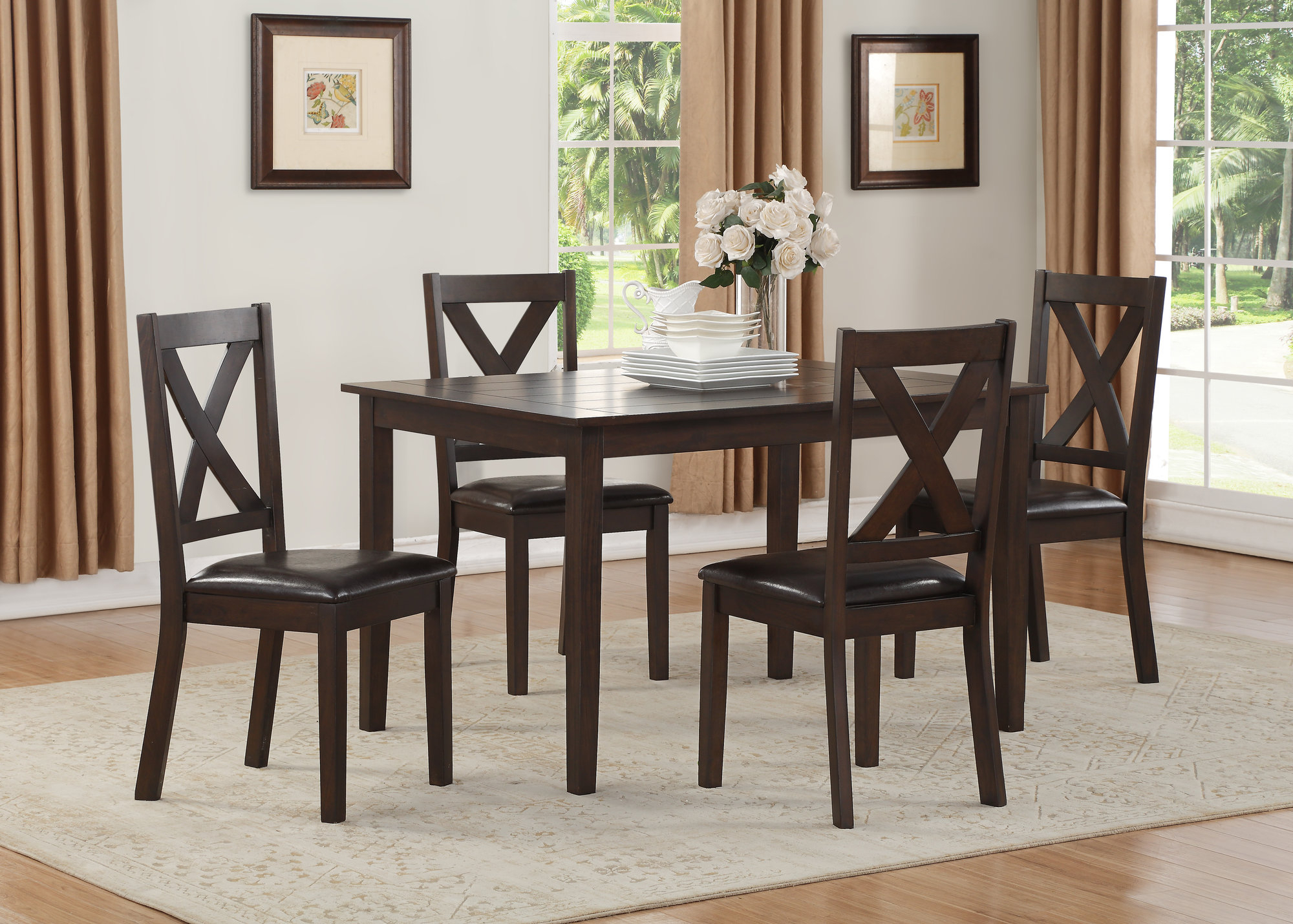 Latest Mukai 5 Piece Dining Sets With Regard To Details About Winston Porter Fitzsimmons 5 Piece Traditional Style Dining  Set (Gallery 9 of 20)