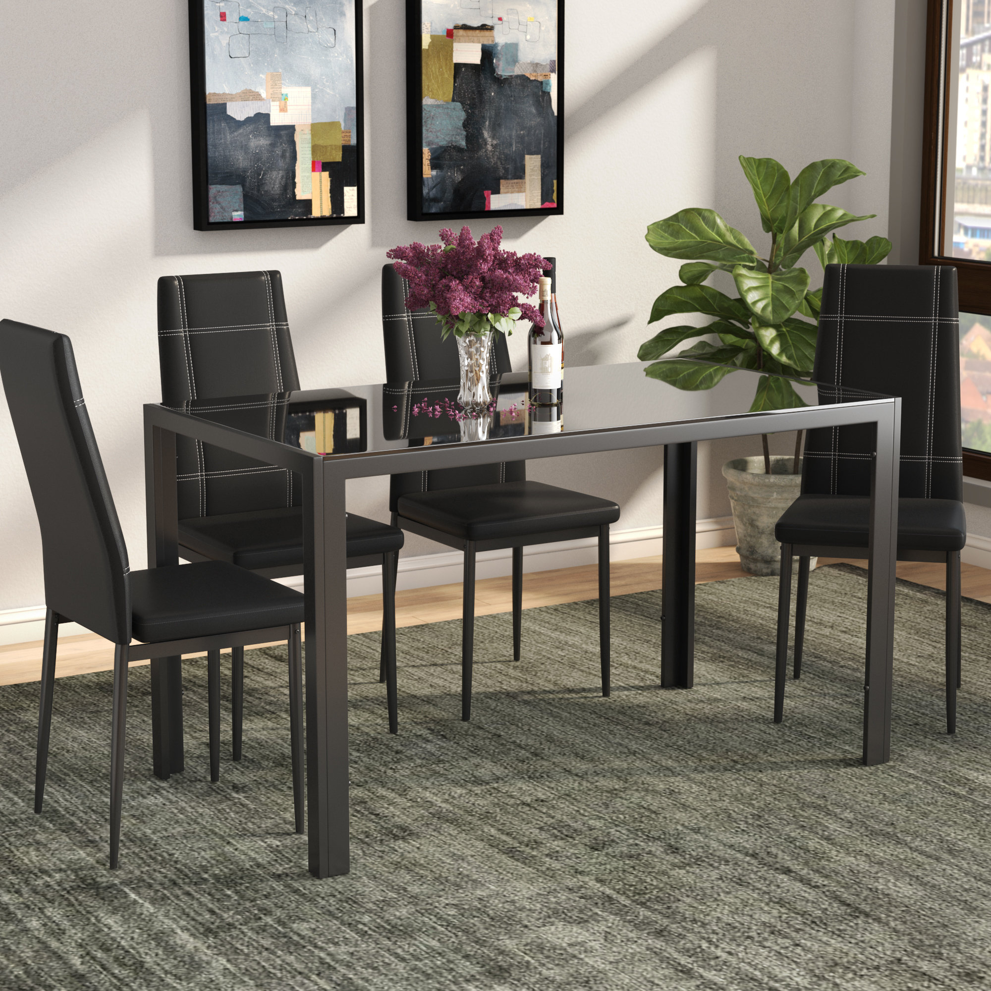 Latest Partin 3 Piece Dining Sets For Maynard 5 Piece Dining Set (View 4 of 20)