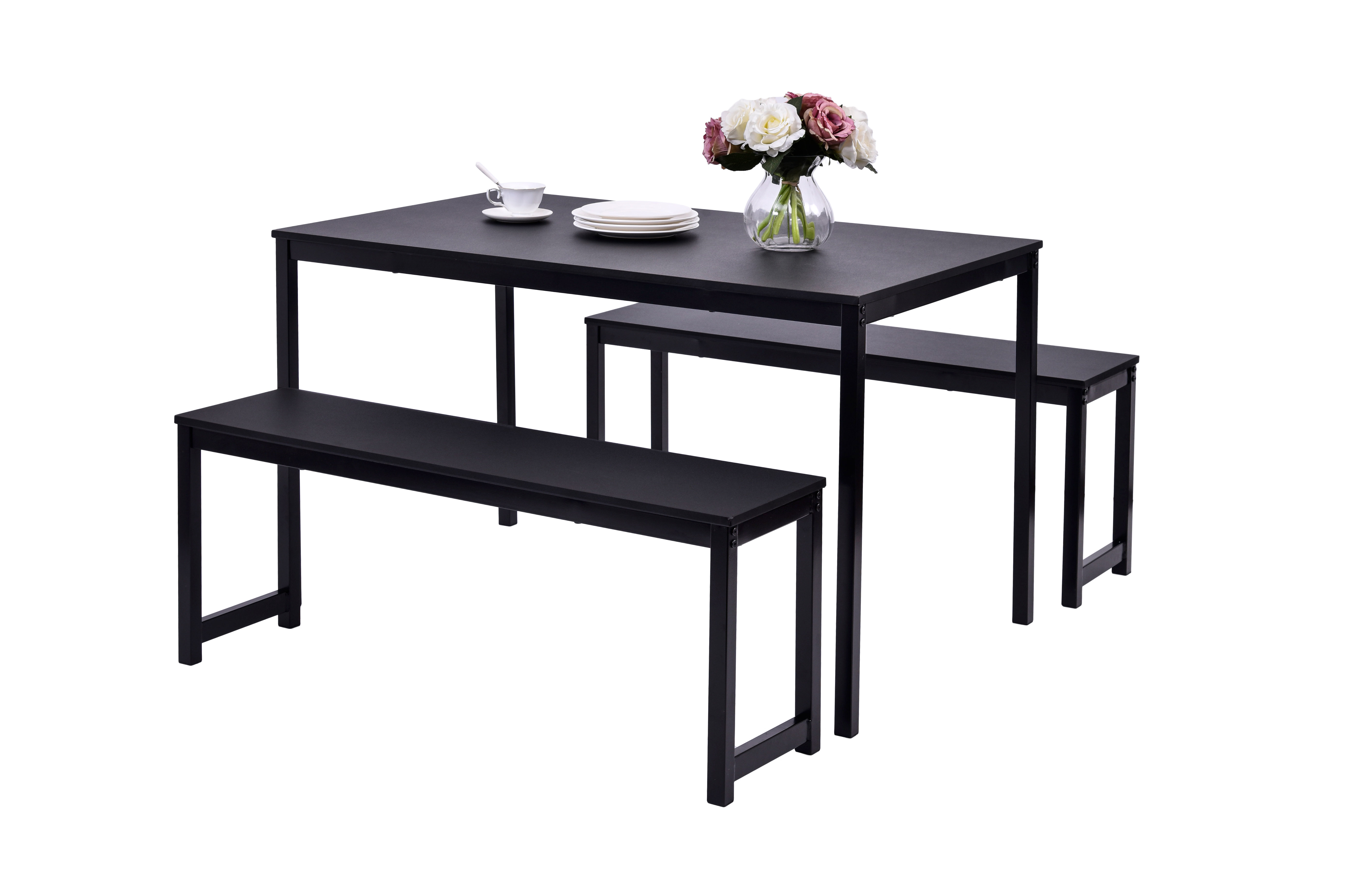 Latest Rossiter 3 Piece Dining Sets With Regard To Partin 3 Piece Dining Set (View 8 of 20)