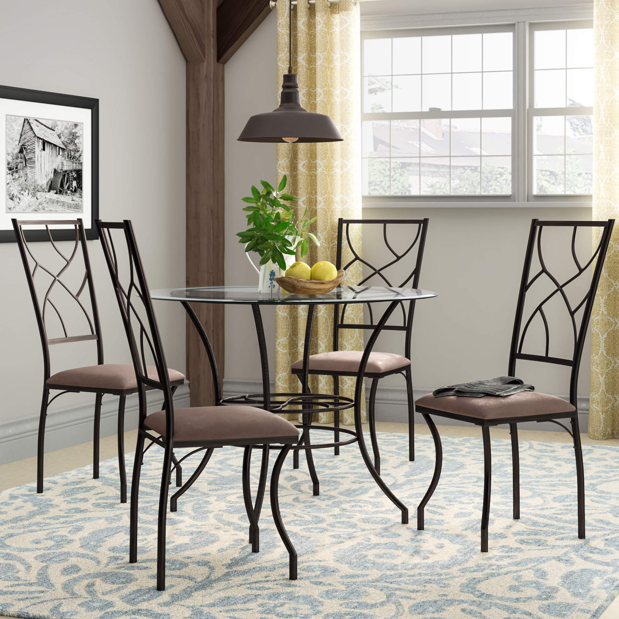 Latest Suniga 5 Piece Dining Set Inside Mulvey 5 Piece Dining Sets (View 3 of 20)
