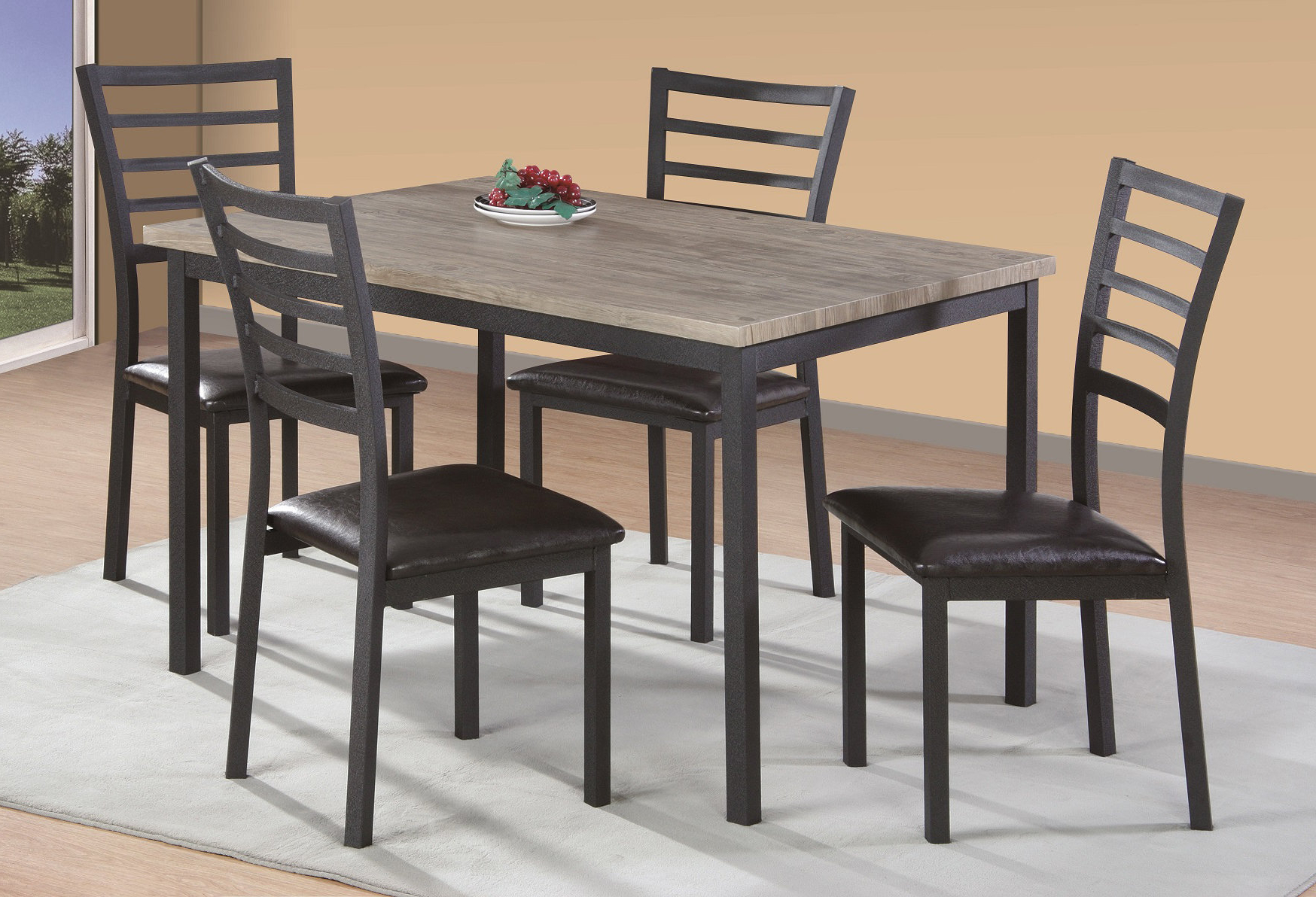 Latest Tejeda 5 Piece Dining Sets With Frankie 5 Piece Dining Set (View 9 of 20)