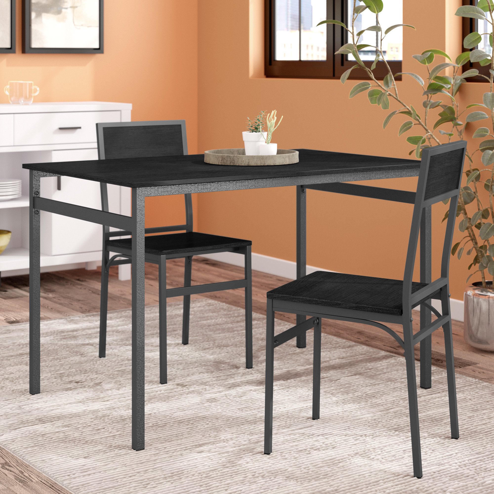 Latitude Run Springfield 3 Piece Dining Set Regarding Most Popular Springfield 3 Piece Dining Sets (Gallery 1 of 20)