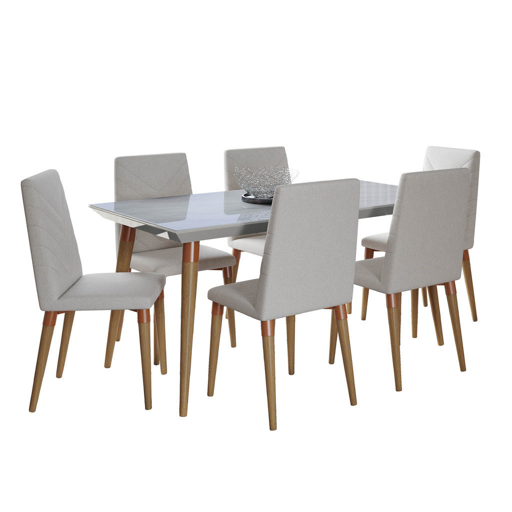 Lemington 7 Piece Solid Wood Dining Set Intended For Favorite Liles 5 Piece Breakfast Nook Dining Sets (Gallery 19 of 20)
