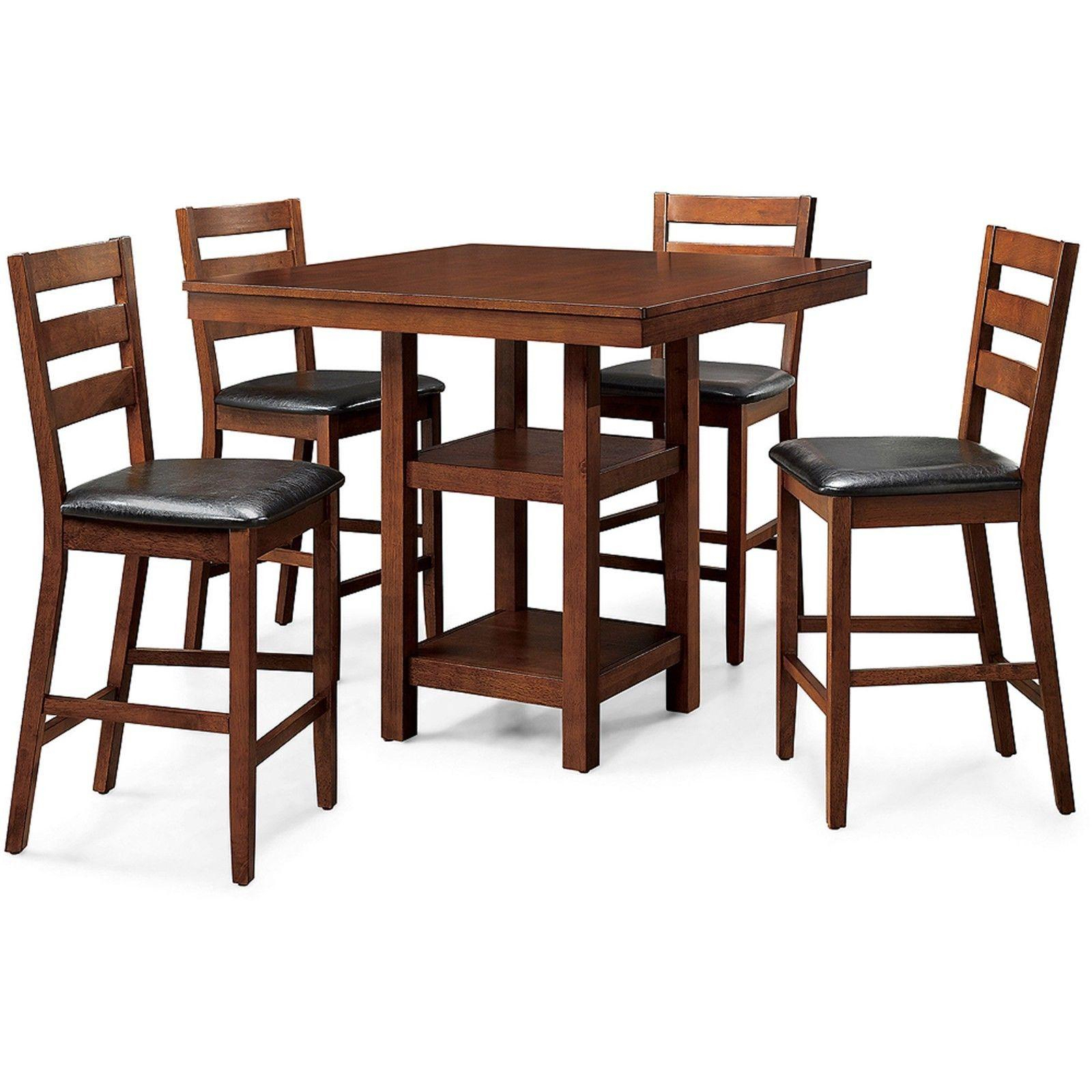 Ligon 3 Piece Breakfast Nook Dining Sets Intended For Most Popular Counter Height Dining Table Set W/ 4 Hig (Gallery 15 of 20)