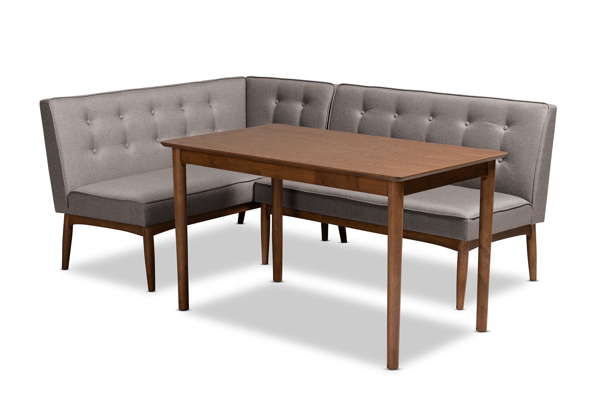 Liles 5 Piece Breakfast Nook Dining Sets Regarding Most Recently Released Bopp Mid Century Modern Upholstered 3 Piece Breakfast Nook Dining Set (Gallery 4 of 20)