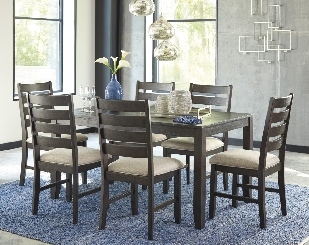Linette 5 Piece Dining Table Sets Intended For Current Rokane – Brown – Dining Room Table Set (7/cn) (Gallery 13 of 20)