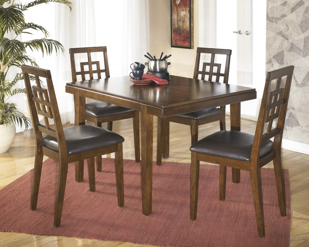 Linette 5 Piece Dining Table Sets Intended For Favorite Cimeran Rectangular Table & 4 Side Chairs (View 17 of 20)