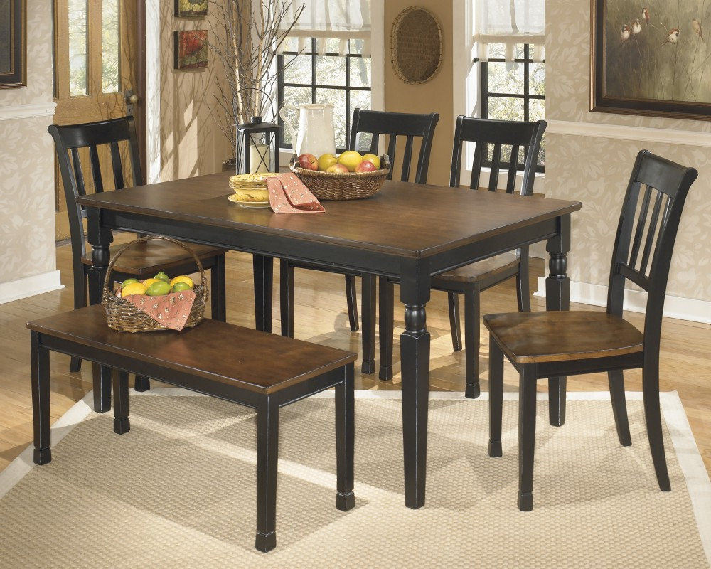 Linette 5 Piece Dining Table Sets Pertaining To Most Current Owingsville Table, 4 Side Chairs & Bench (View 20 of 20)