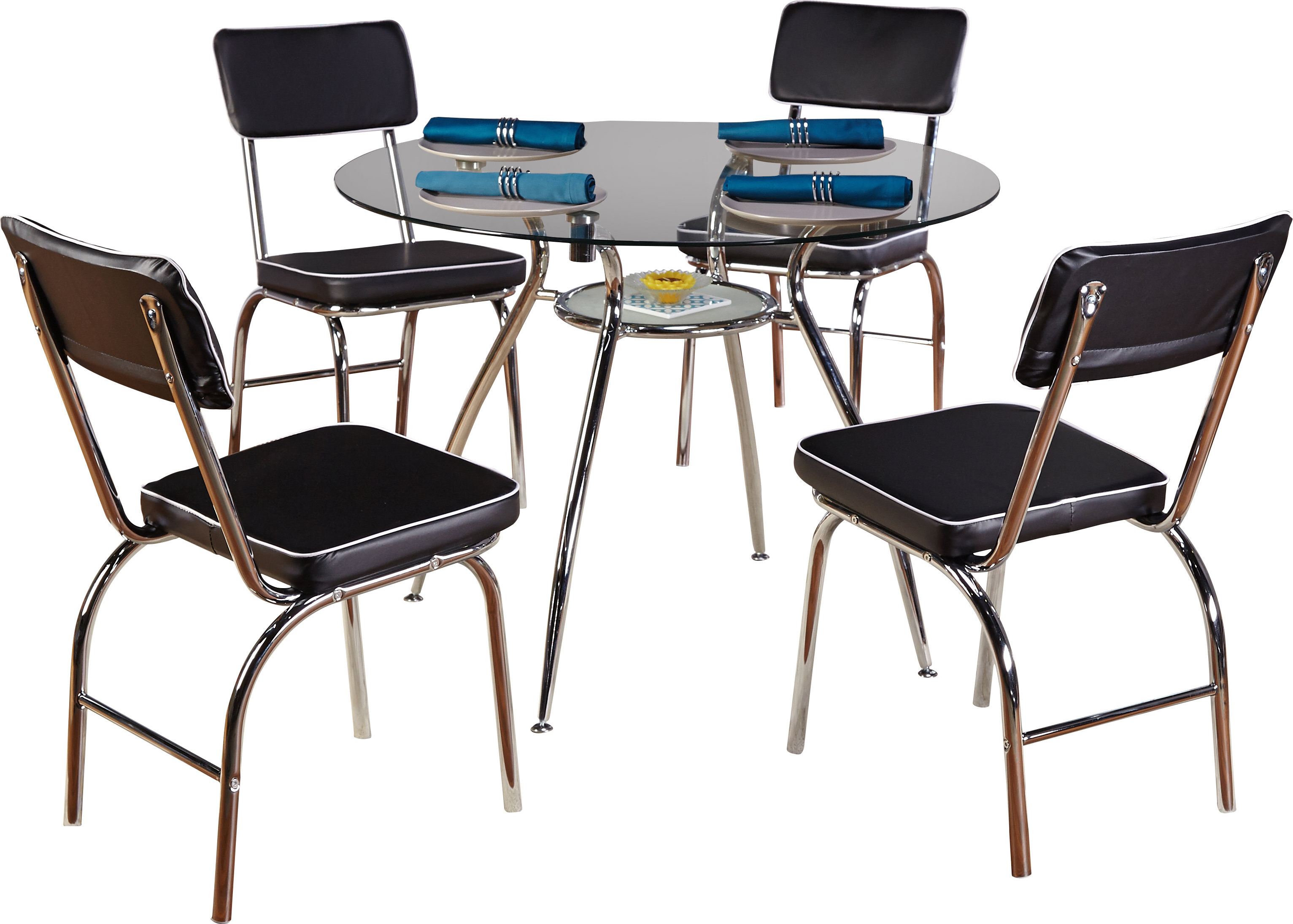 Linette 5 Piece Dining Table Sets Pertaining To Trendy Mable 5 Piece Dining Set (View 15 of 20)