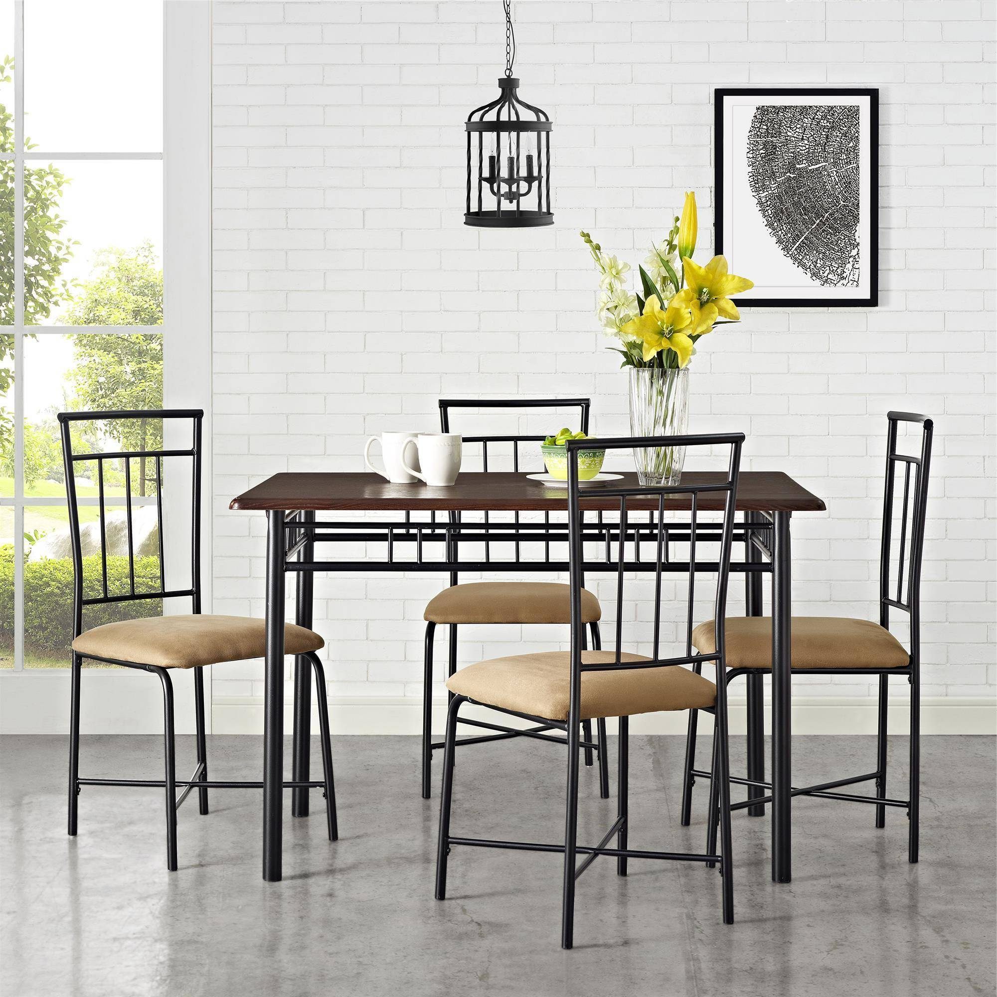 Mainstays 5 Piece Dining Set, Multiple Colors With Regard To Well Liked West Hill Family Table 3 Piece Dining Sets (View 10 of 20)
