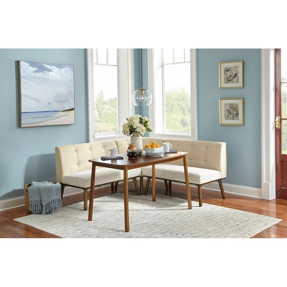 Maloney 3 Piece Breakfast Nook Dining Sets Inside Trendy Simple Living 4 Piece Playmate Nook Dining Set (View 15 of 20)
