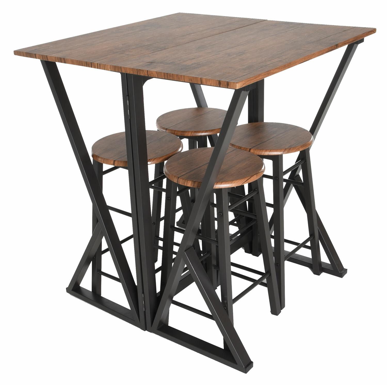 Maloney 5 Piece Pub Table Set Regarding 2017 Maloney 3 Piece Breakfast Nook Dining Sets (View 9 of 20)