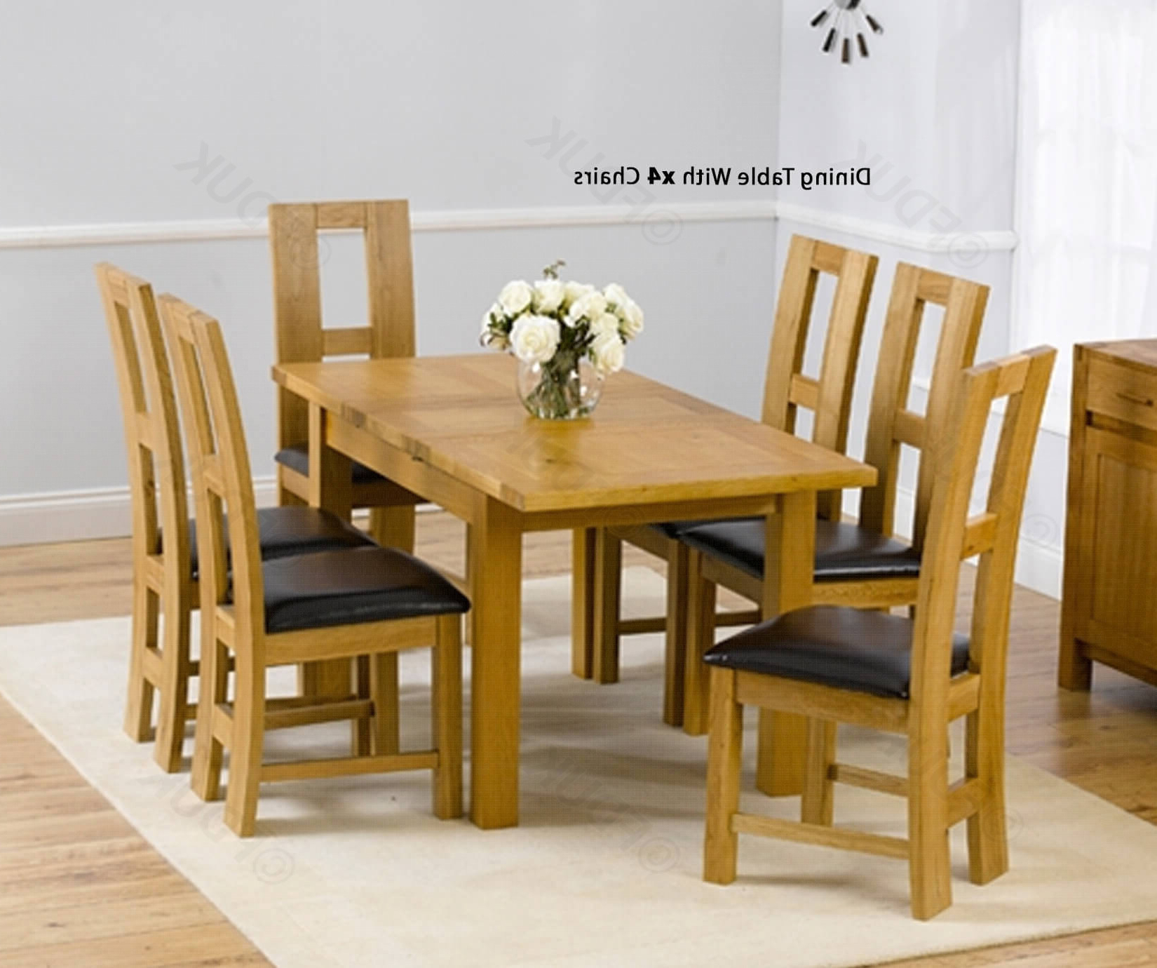 Mark Harris Rustique Solid Oak Dining Set – 120Cm Rectangular Extending  With 4 John Louis Brown Chairs Fduk Best Price Guarantee We Will Beat Our For Recent John 4 Piece Dining Sets (View 13 of 20)
