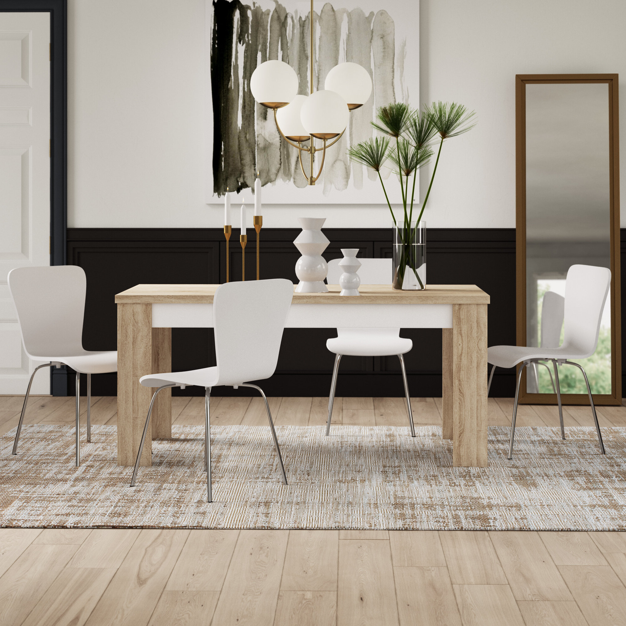 Maynard 5 Piece Dining Sets Throughout Most Recently Released Algedi 5 Piece Dining Set (View 5 of 20)