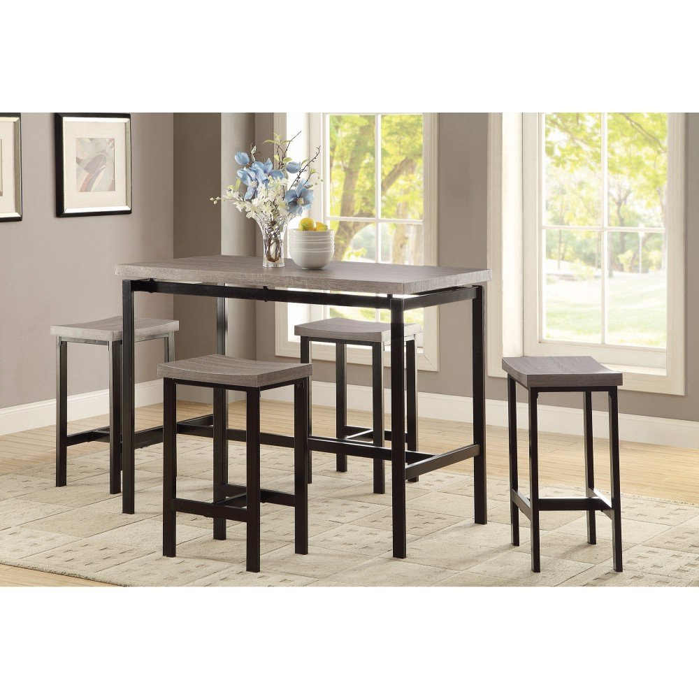 Mccreery 5 Piece Counter Height Dining Set Within Recent Mysliwiec 5 Piece Counter Height Breakfast Nook Dining Sets (View 8 of 20)