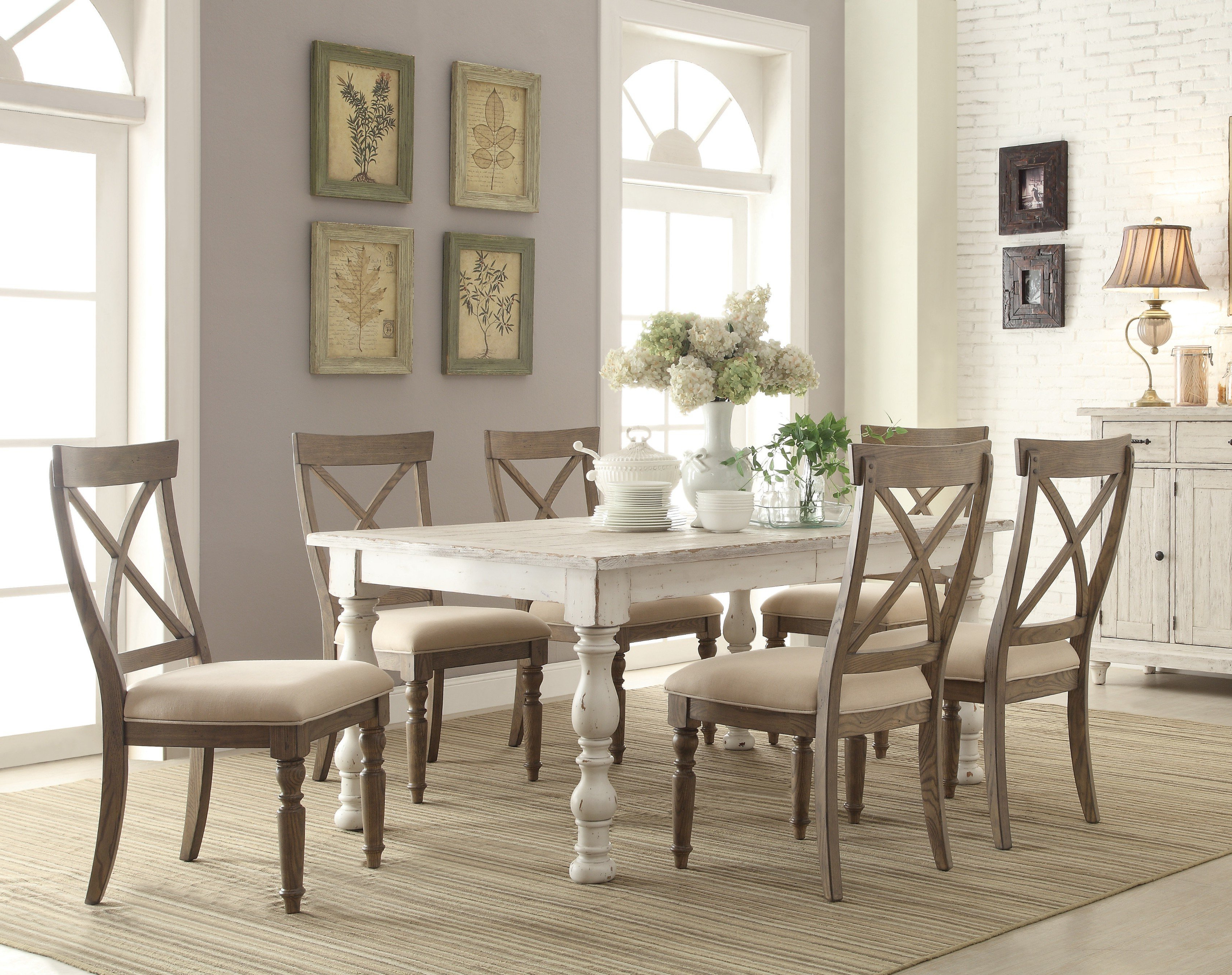 Mckenzie 7 Piece Extendable Dining Set Pertaining To Most Current Rarick 5 Piece Solid Wood Dining Sets (Set Of 5) (View 7 of 20)