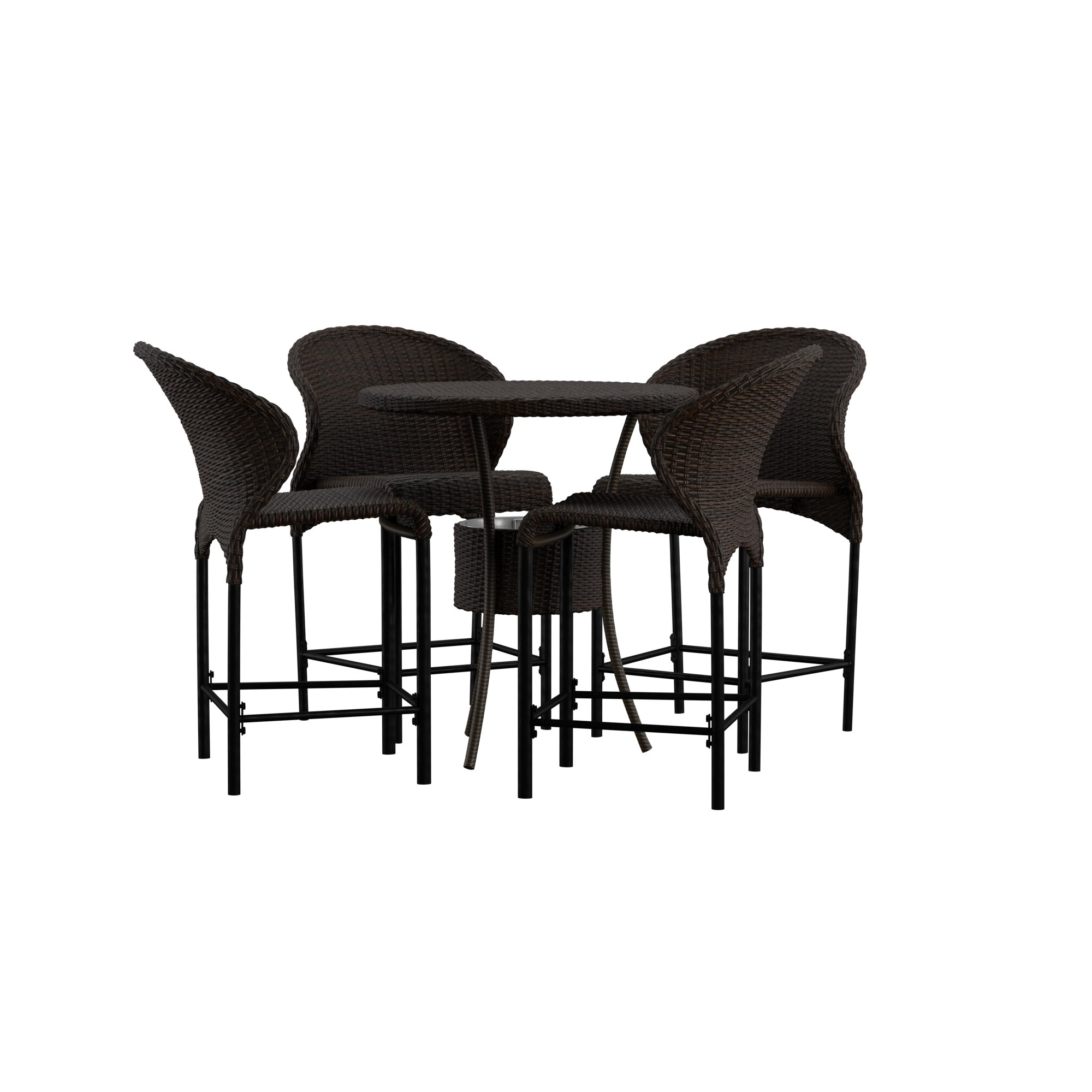 Mercury Row Nicodemus 5 Piece Dining Set For Fashionable Miskell 3 Piece Dining Sets (View 9 of 20)