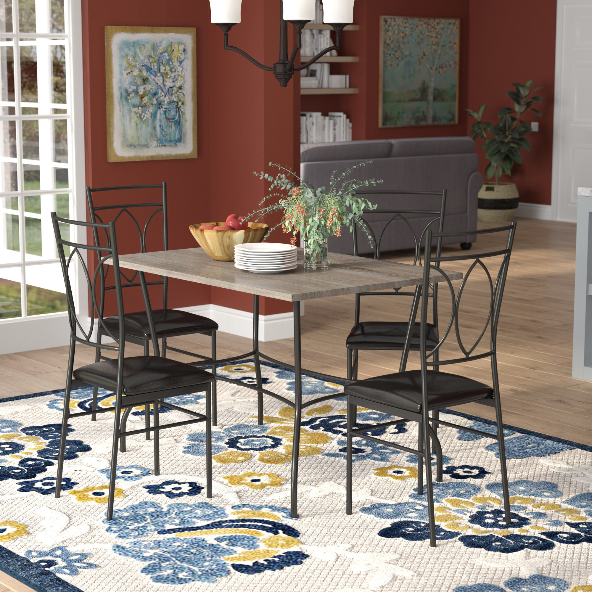 Middleport 5 Piece Dining Sets Inside Famous Malina 5 Piece Dining Set (View 13 of 20)