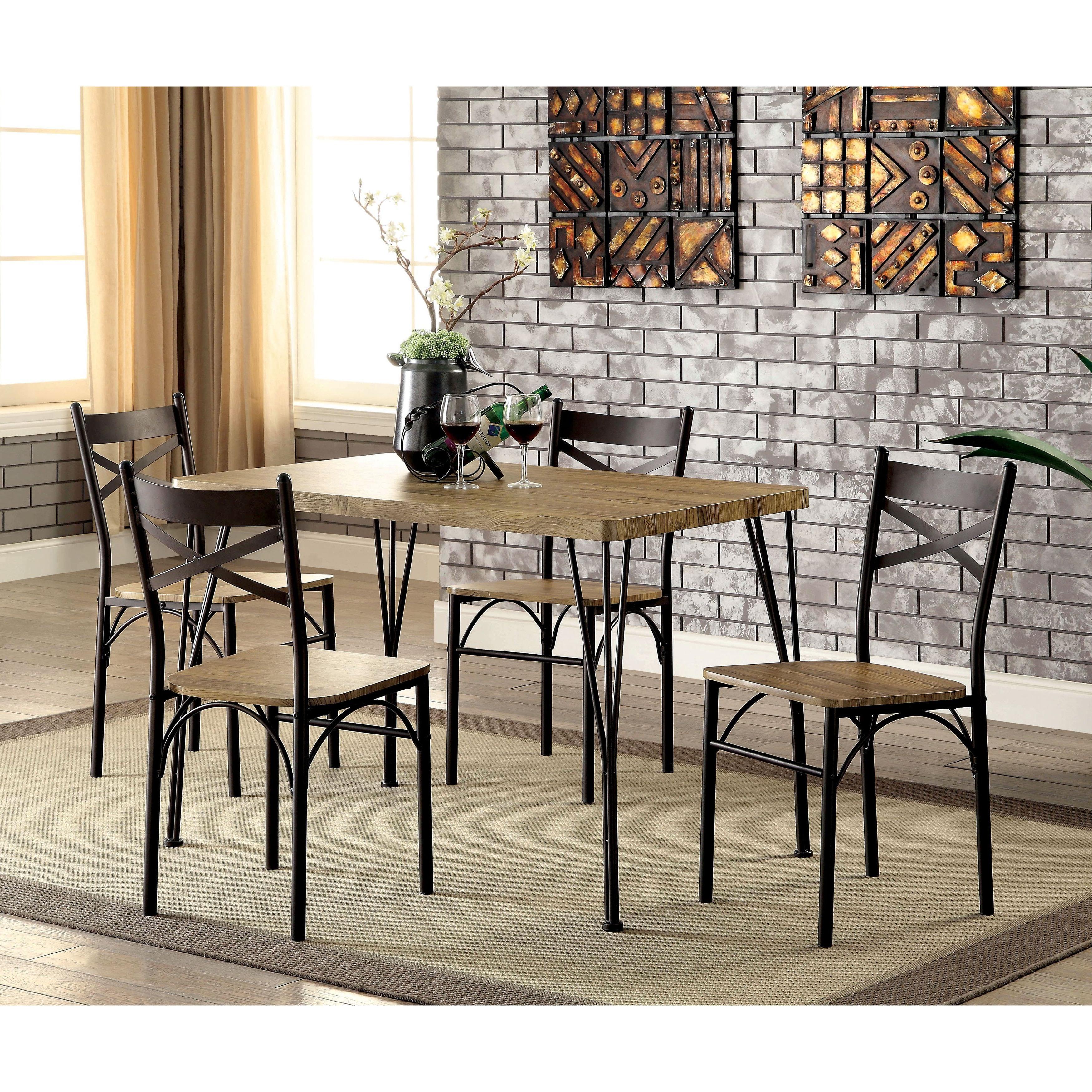 Middleport 5 Piece Dining Sets Regarding 2018 Furniture Of America Hathway Industrial 5 Piece Dark Bronze Small (View 14 of 20)