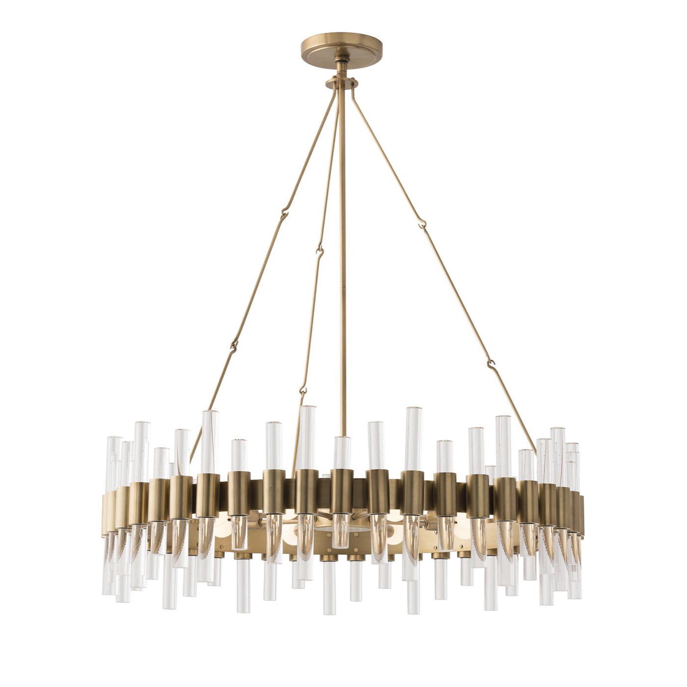 Miskell Brass & Lucite Grand Chandelier (View 20 of 20)