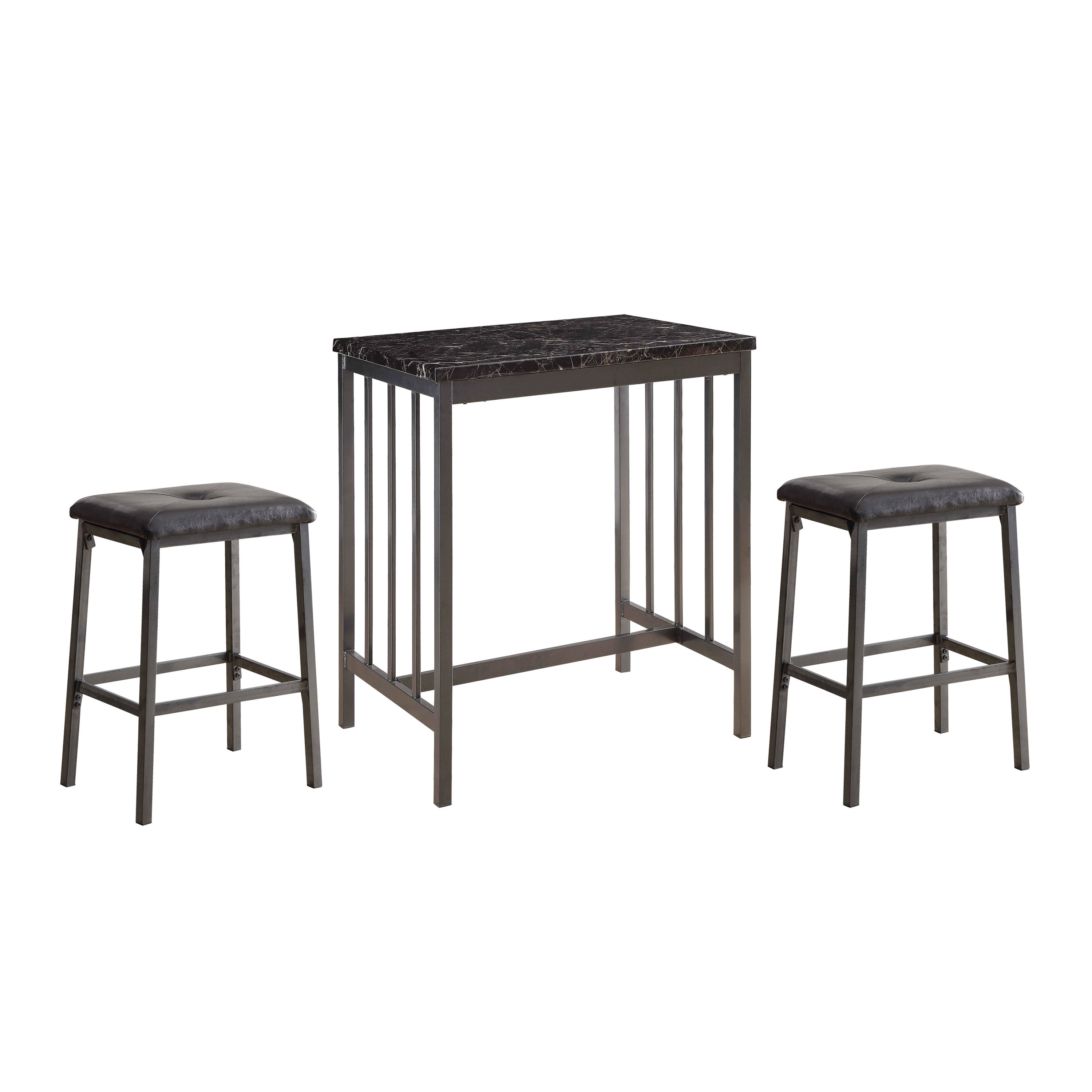 Featured Photo of Mizpah 3 Piece Counter Height Dining Sets