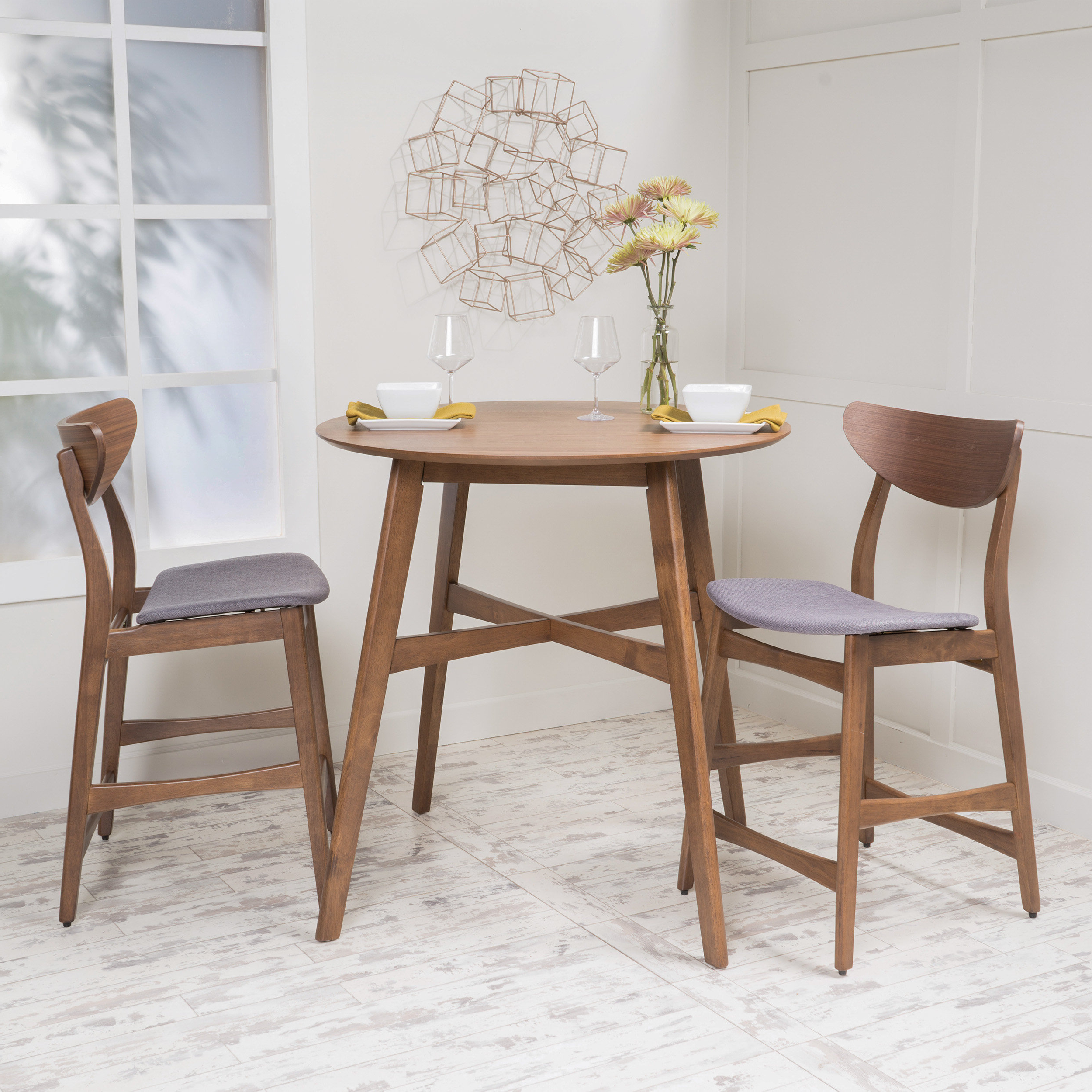 Mizpah 3 Piece Counter Height Dining Sets Regarding Famous 3 Piece Dining Set Counter Height – Ingamecity – (View 9 of 20)
