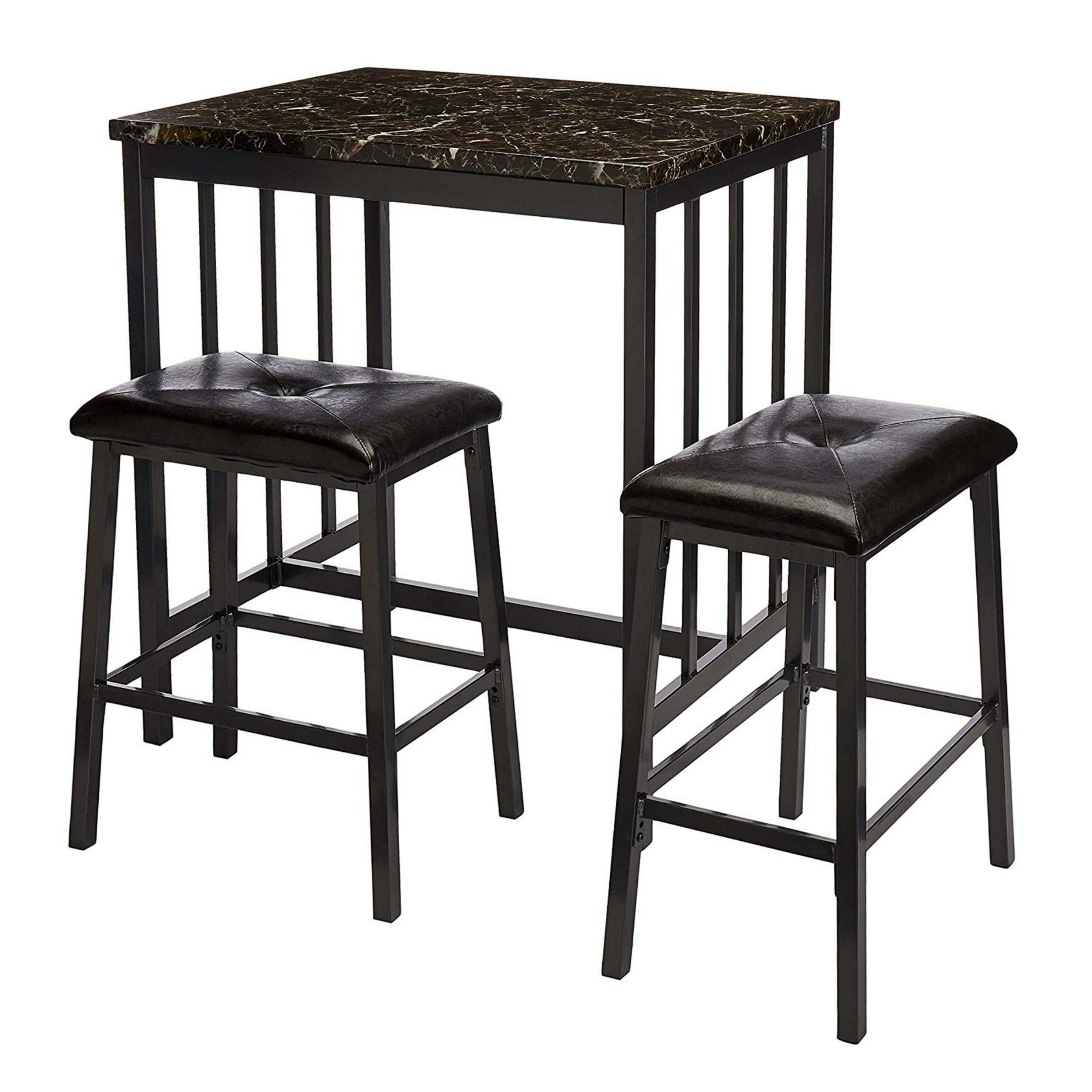 Mizpah 3 Piece Counter Height Dining Sets With Regard To Newest Presson 3 Piece Counter Height Dining Set (View 11 of 20)