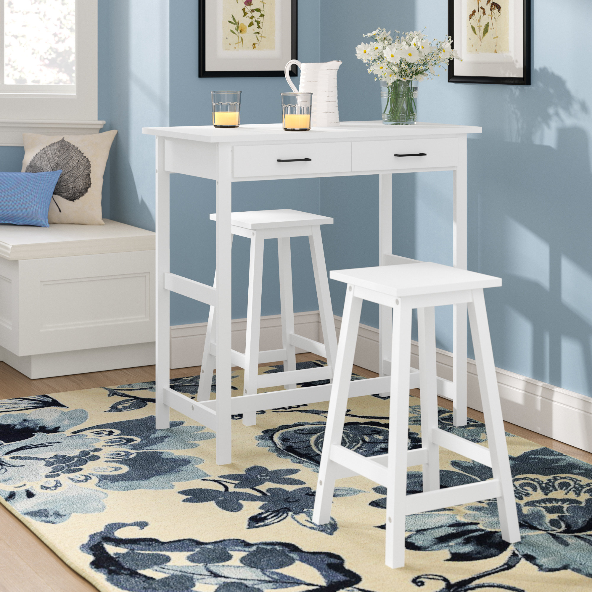Moorehead 3 Piece Counter Height Dining Sets In Trendy Alcott Hill Dowdell 3 Piece Pub Set (View 9 of 20)