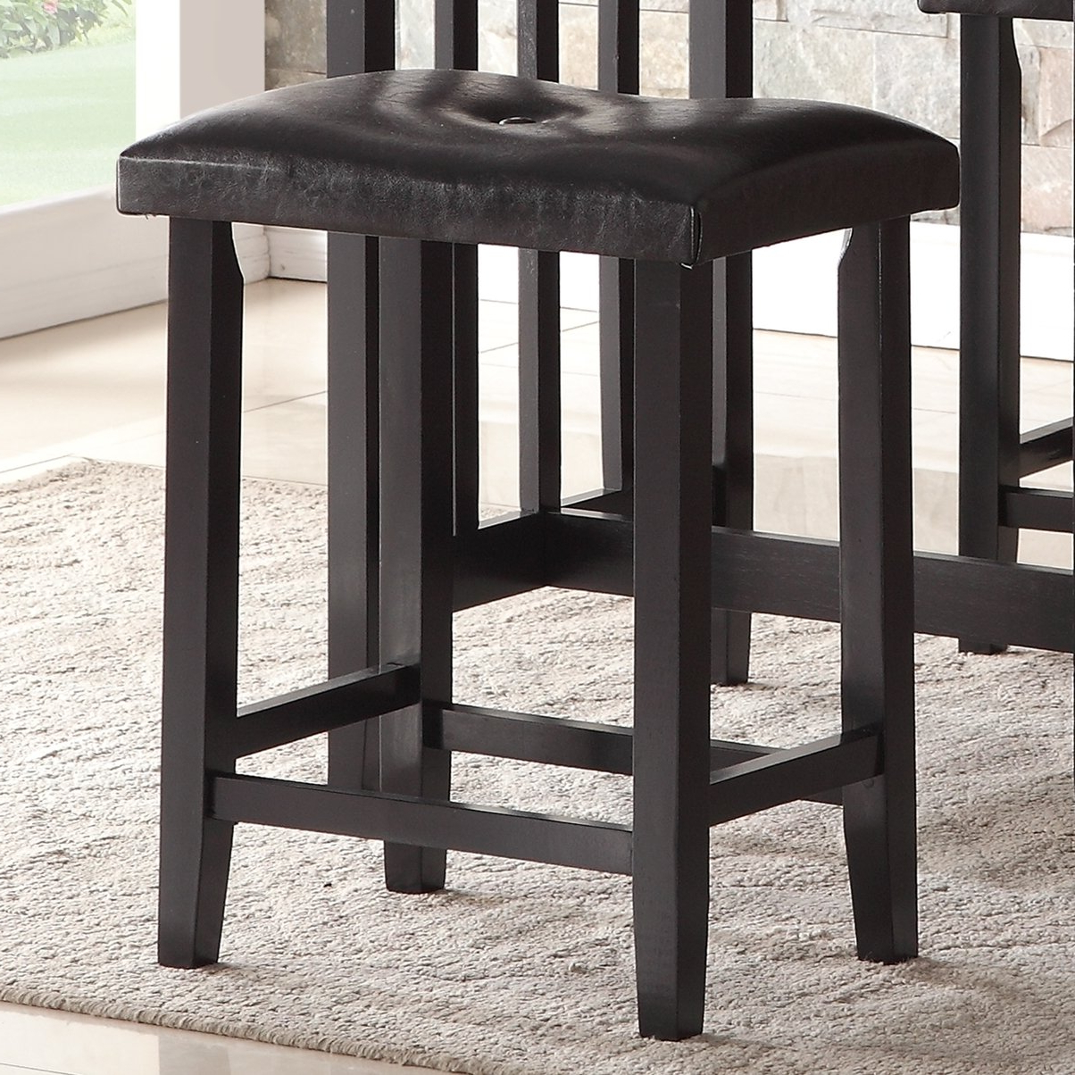 Moorehead 3 Piece Counter Height Dining Sets Intended For Most Popular Roundhill Furniture 3 Piece Counter Height Dining Set With Saddleback Stools, Black (View 10 of 20)