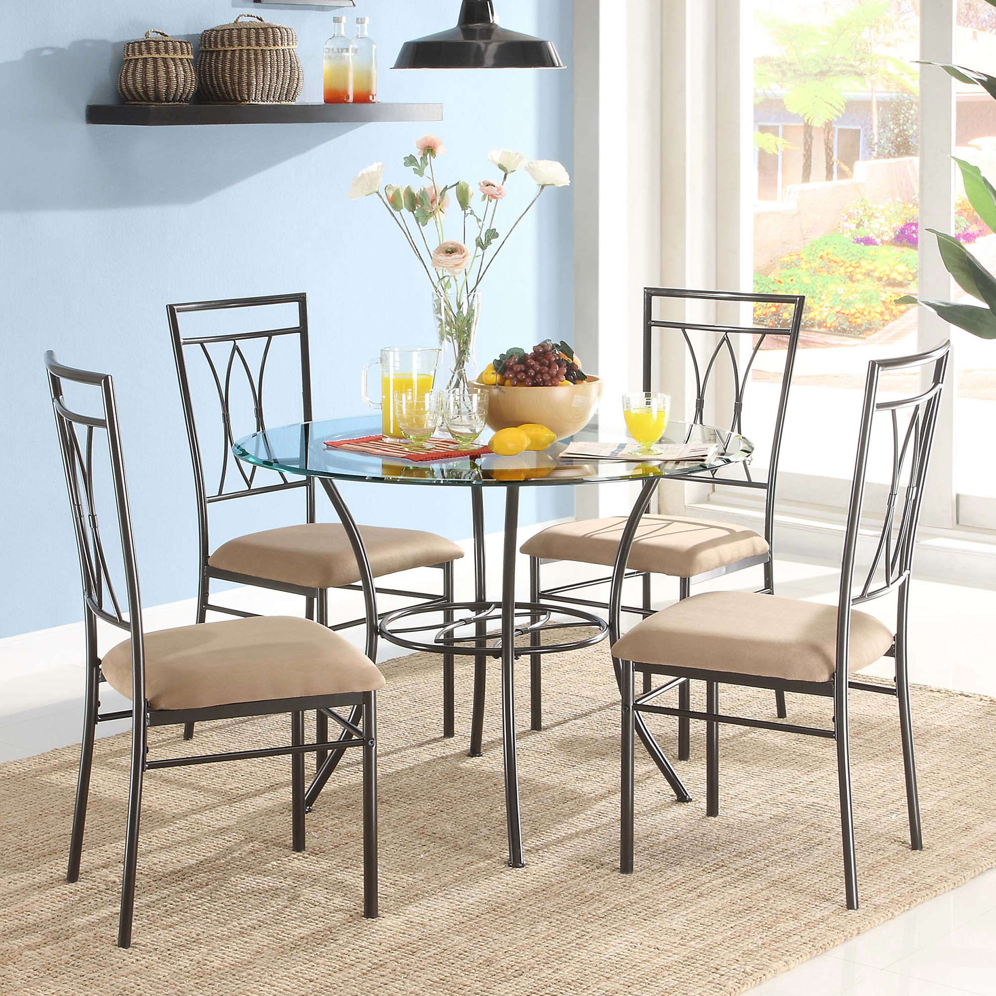 Moorehead 3 Piece Counter Height Dining Sets Within Most Up To Date Kitchen & Dining Furniture – Walmart (View 13 of 20)