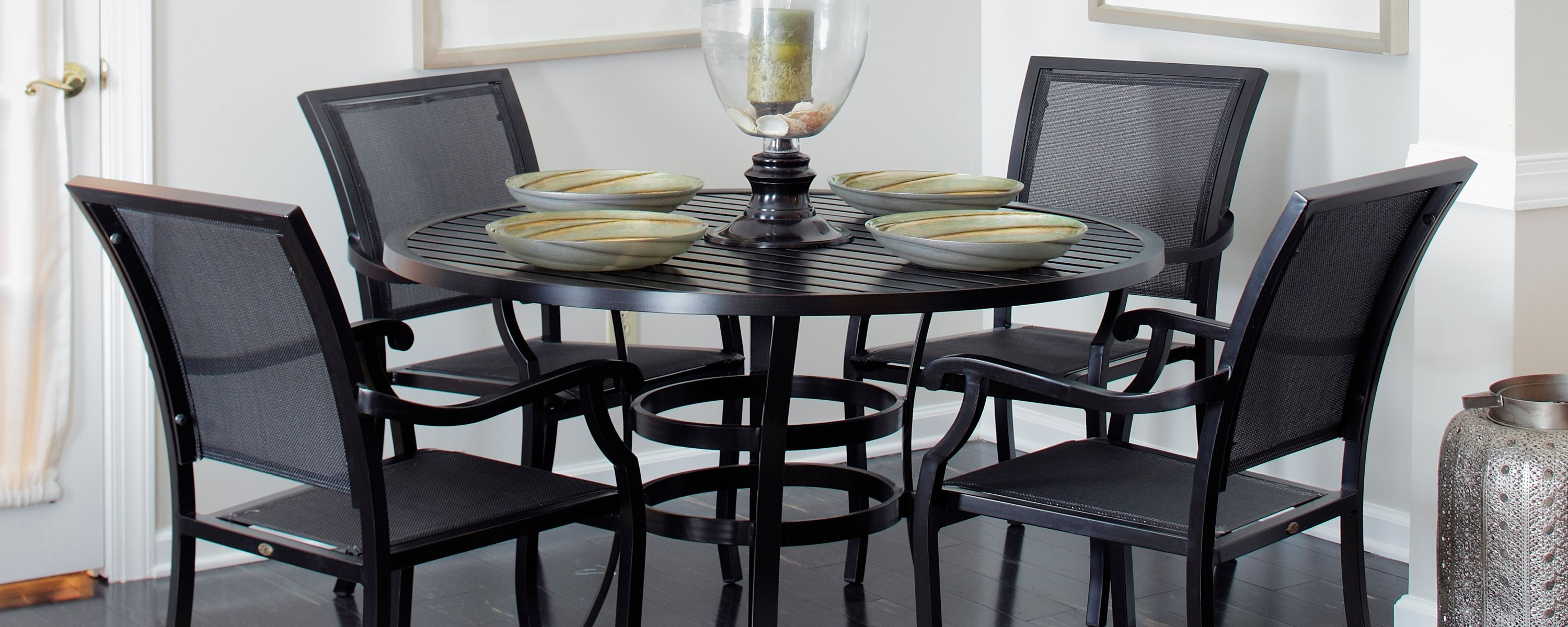Most Current Autberry 5 Piece Dining Sets In The Plaza Ii Collection From Parker James Features A Hand Welded (View 20 of 20)
