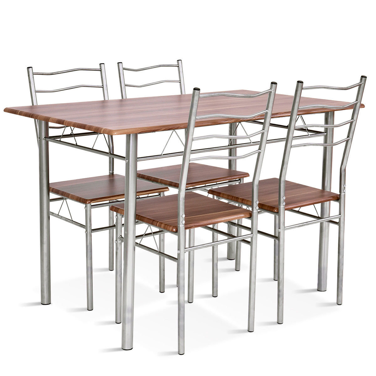 Most Current Casiano 5 Piece Dining Set Intended For Mulvey 5 Piece Dining Sets (View 5 of 20)