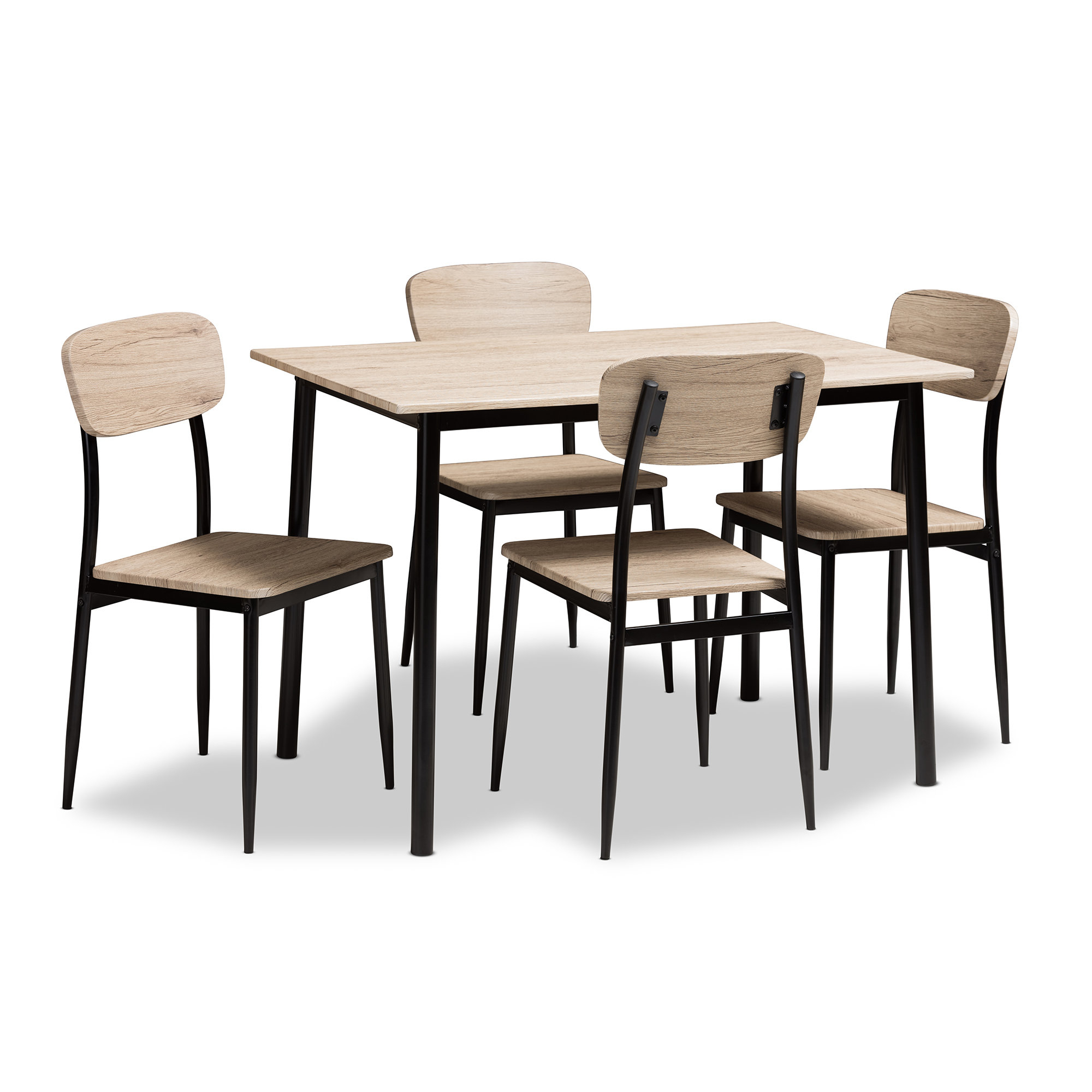 Most Current Castellanos Modern 5 Piece Counter Height Dining Sets Regarding Wiggs 5 Piece Dining Set (View 14 of 20)