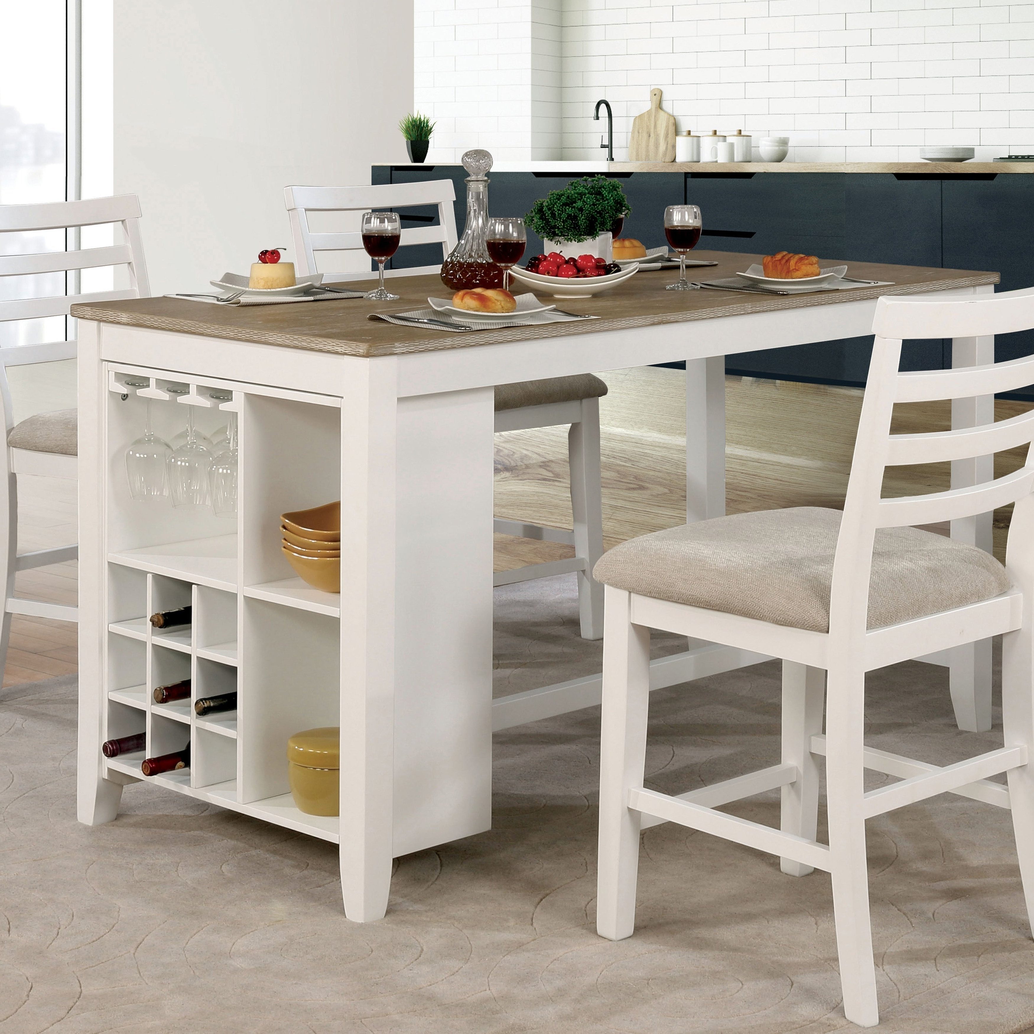Most Current Kitchen Table Counter – Home Interior Design Trends For Jarrod 5 Piece Dining Sets (View 16 of 20)