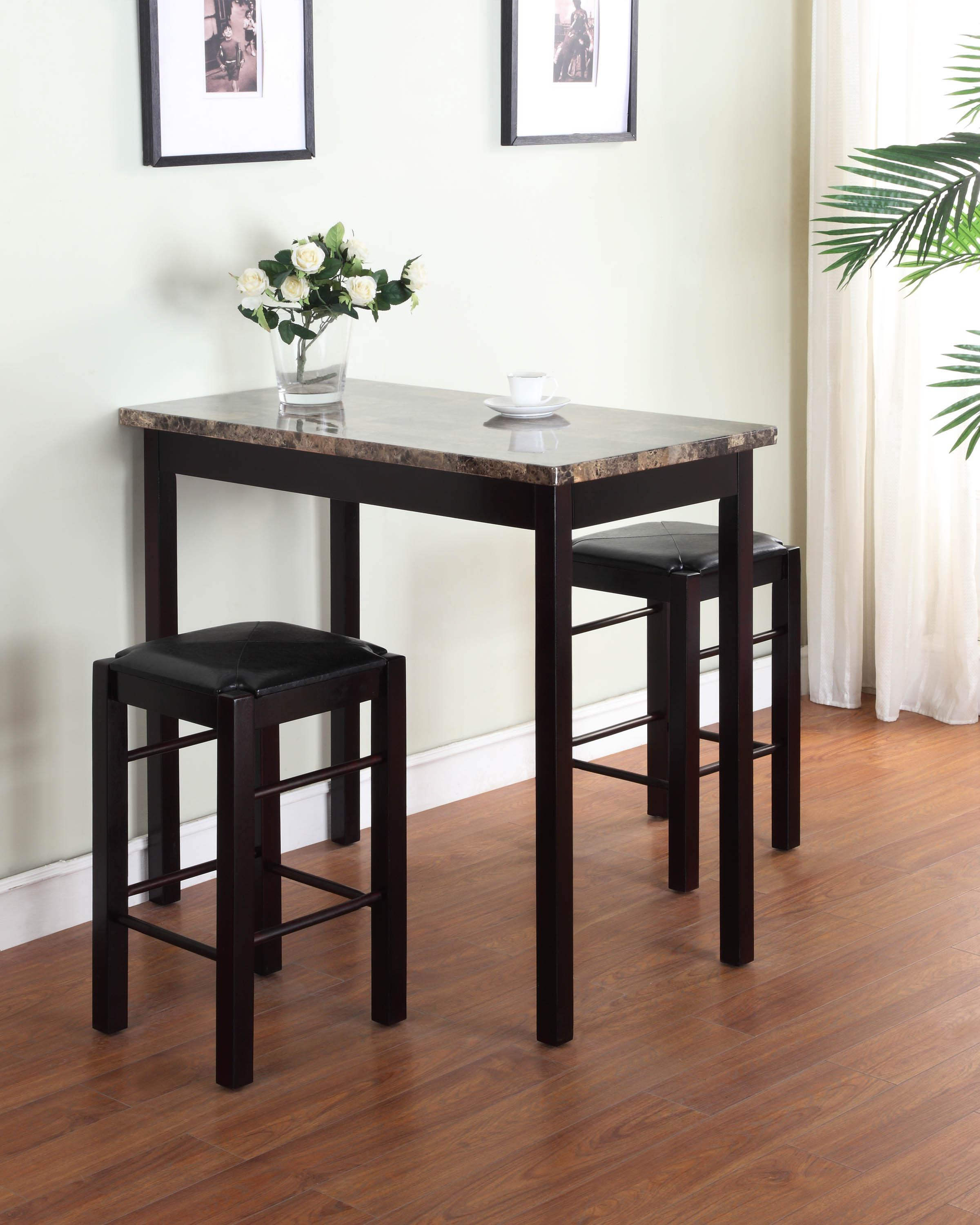Most Current Linon Tavern Collection 3 Piece Table Set Regarding Valladares 3 Piece Pub Table Sets (View 6 of 20)