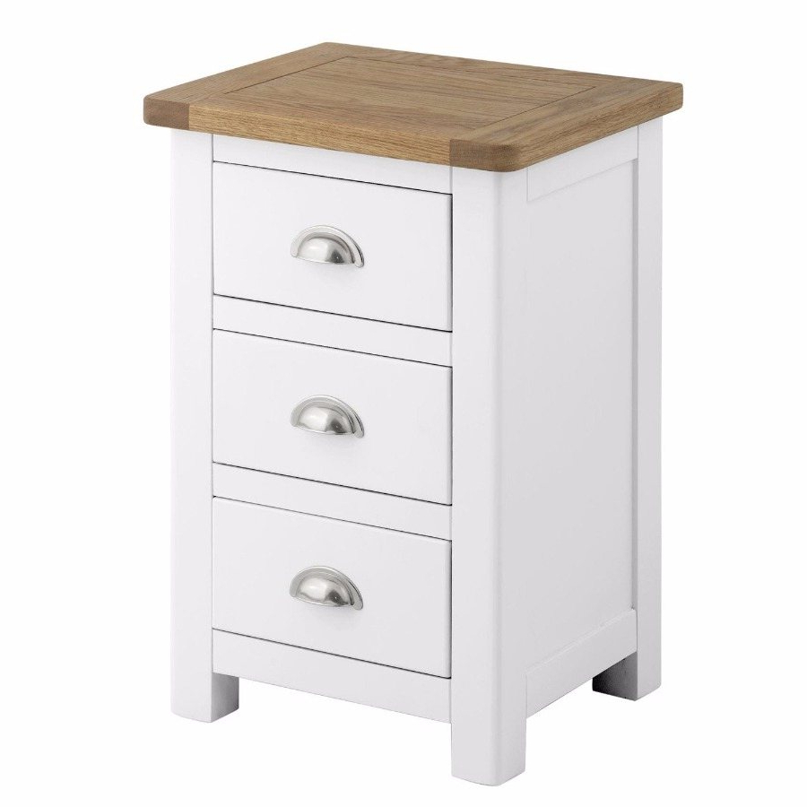 Most Current Northwood 3 Drawer Bedside Cabinet In White With Northwoods 3 Piece Dining Sets (View 15 of 20)