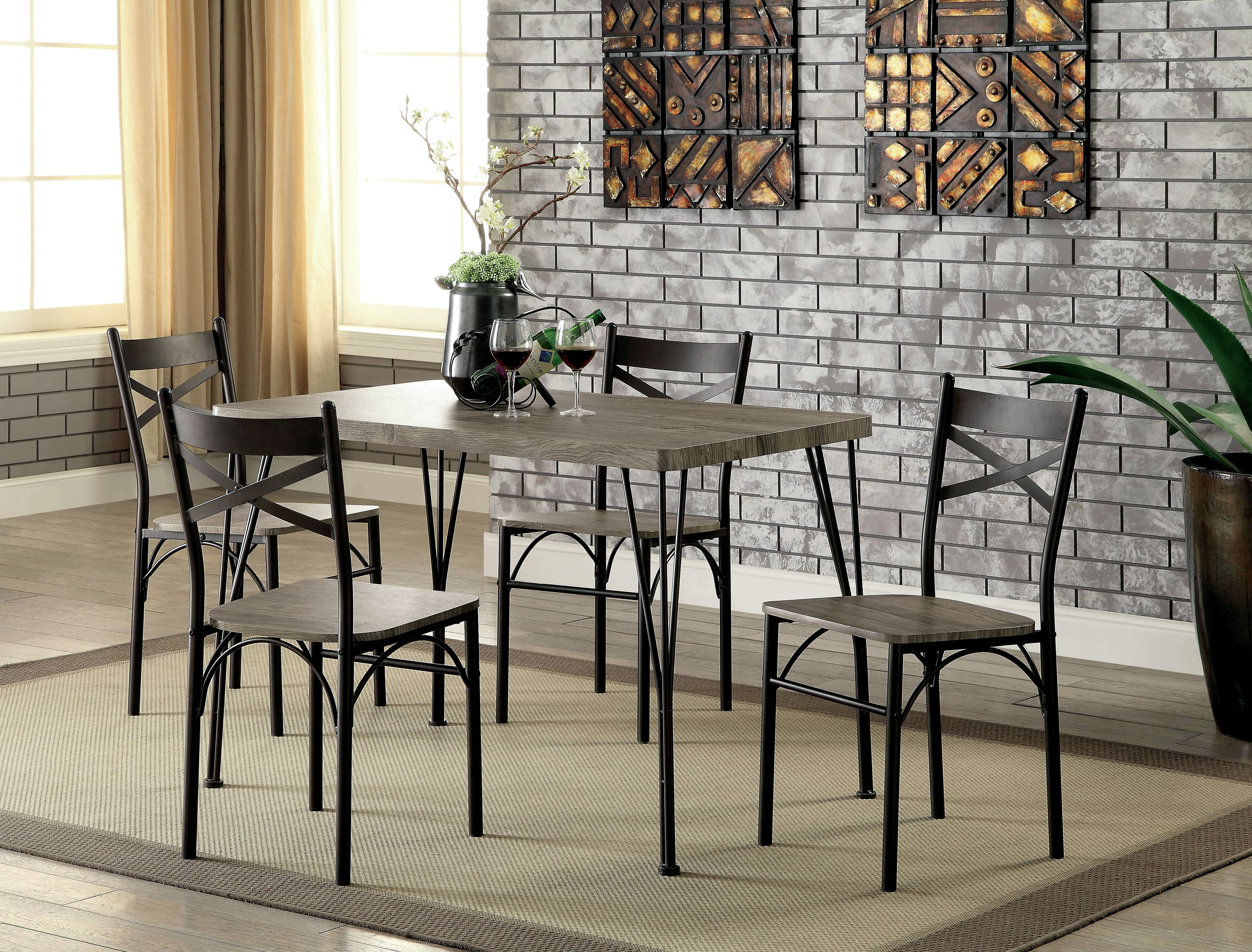 Most Current Taulbee 5 Piece Dining Sets Intended For Middleport 5 Piece Dining Set (View 7 of 20)