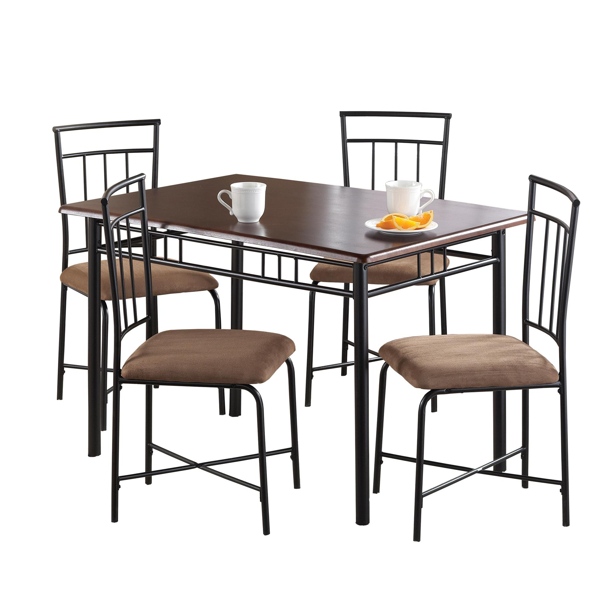 Most Current West Hill Family Table 3 Piece Dining Sets With Regard To Mainstays 5 Piece Dining Set, Multiple Colors (View 19 of 20)
