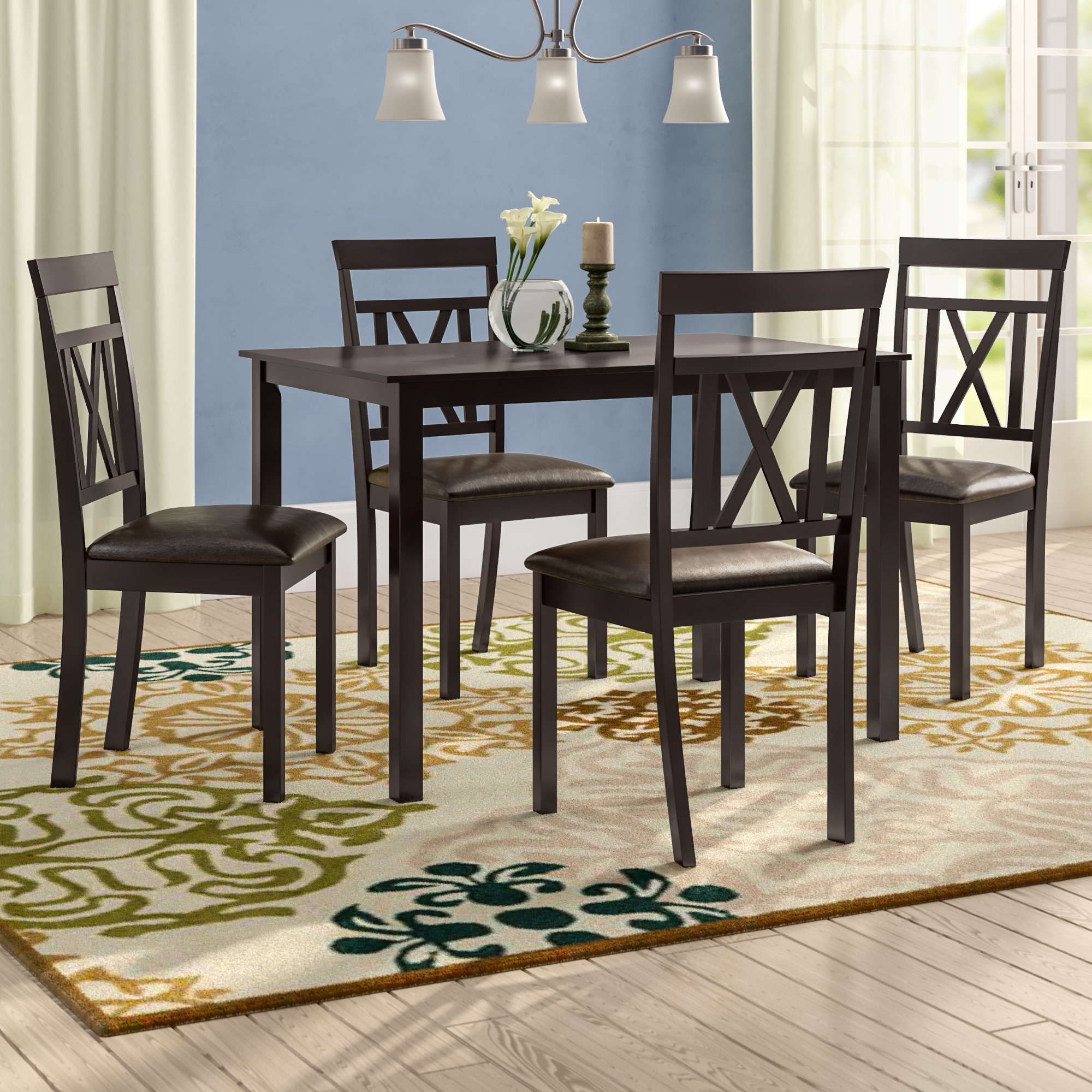 Most Current Whitbey Modern And Contemporary 5 Piece Breakfast Nook Dining Set With 5 Piece Breakfast Nook Dining Sets (View 7 of 20)