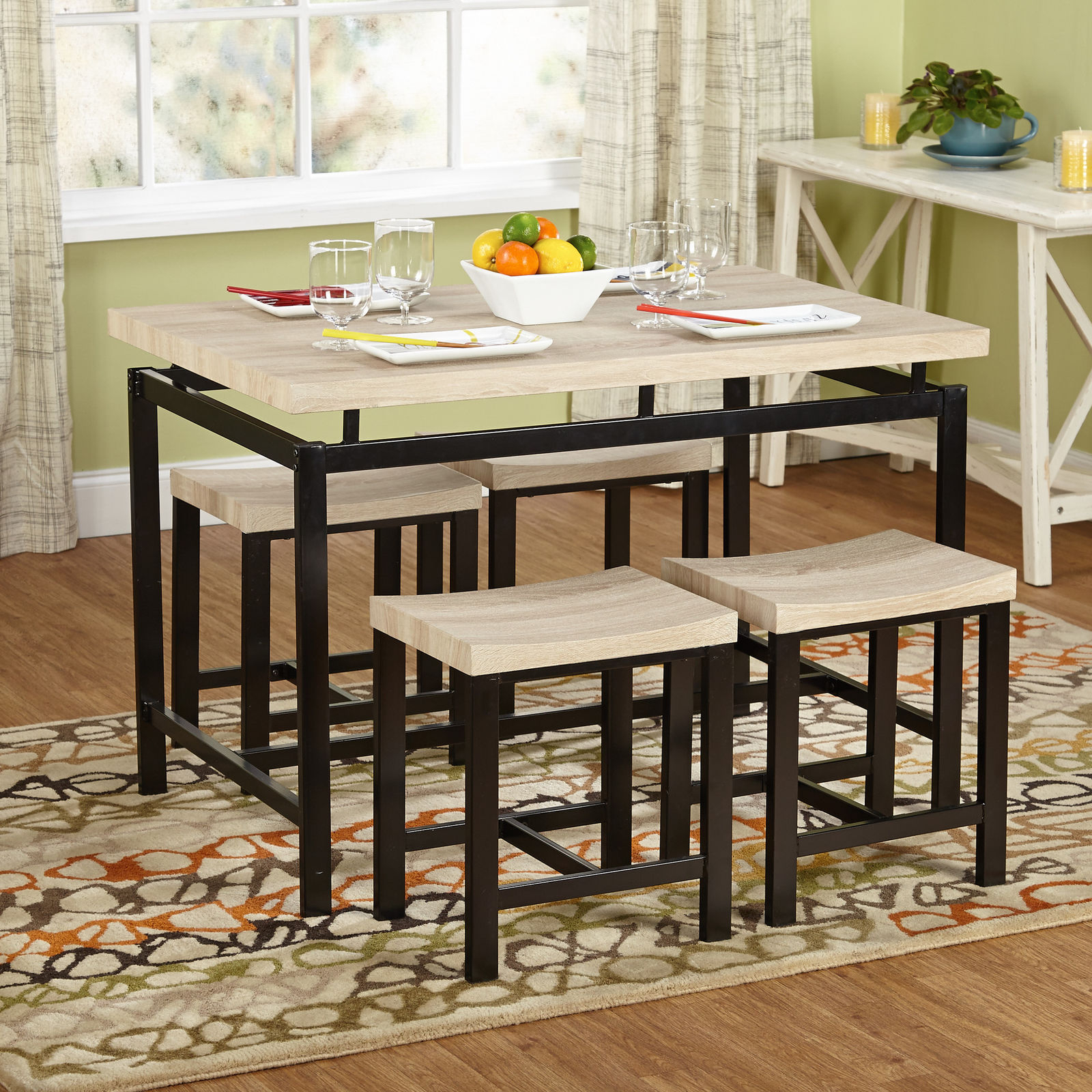 Most Current Wrought Studio Bryson 5 Piece Dining Set Throughout Bryson 5 Piece Dining Sets (View 14 of 20)