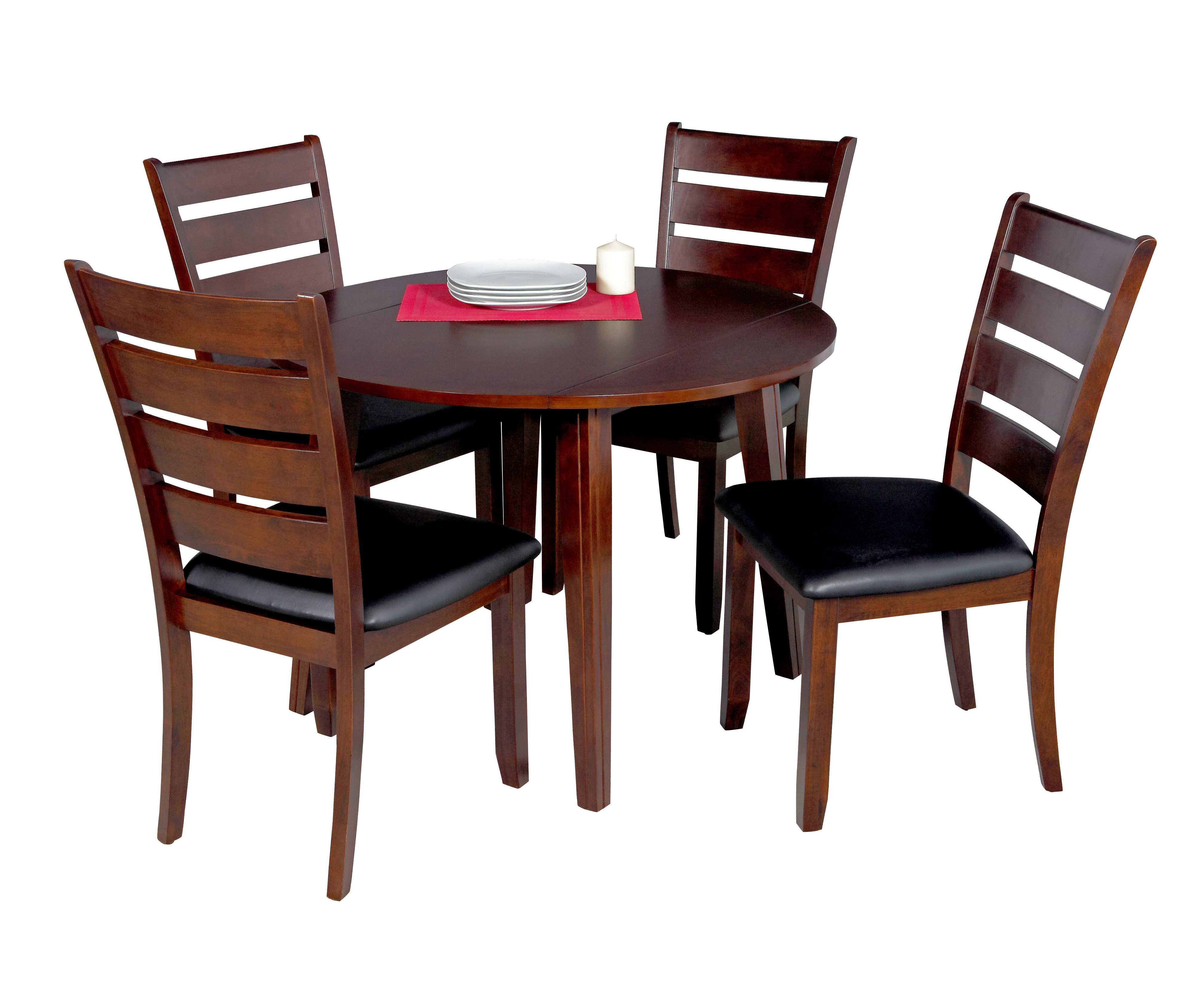 Most Popular Adan 5 Piece Solid Wood Dining Sets (Set Of 5) With Caroline 5 Piece Solid Wood Dining Set (View 16 of 20)