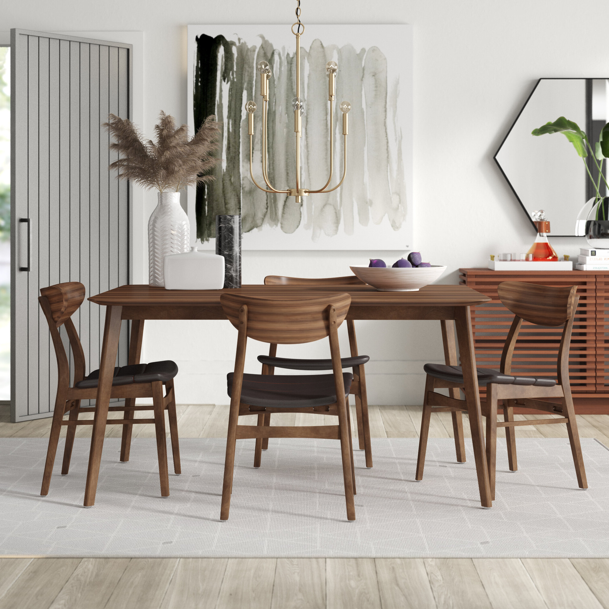 Most Popular Casiano 5 Piece Dining Sets With Regard To Lillis 5 Piece Dining Set (View 6 of 20)