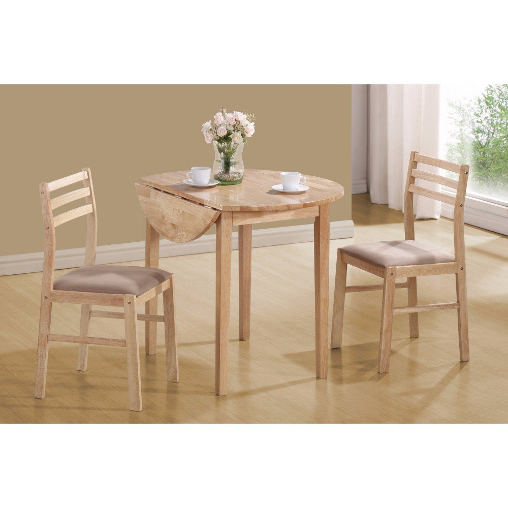 Most Popular Karns Sophisticated 3 Piece Extendable Breakfast Nook Solid Wood Dining Set In Valladares 3 Piece Pub Table Sets (View 7 of 20)