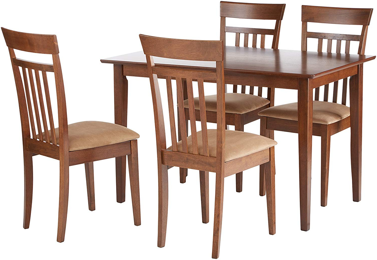 Most Popular Kieffer 5 Piece Dining Sets Within Coaster 150430Ii Co 150430 5 Pc Dining Set, Walnut (View 11 of 20)