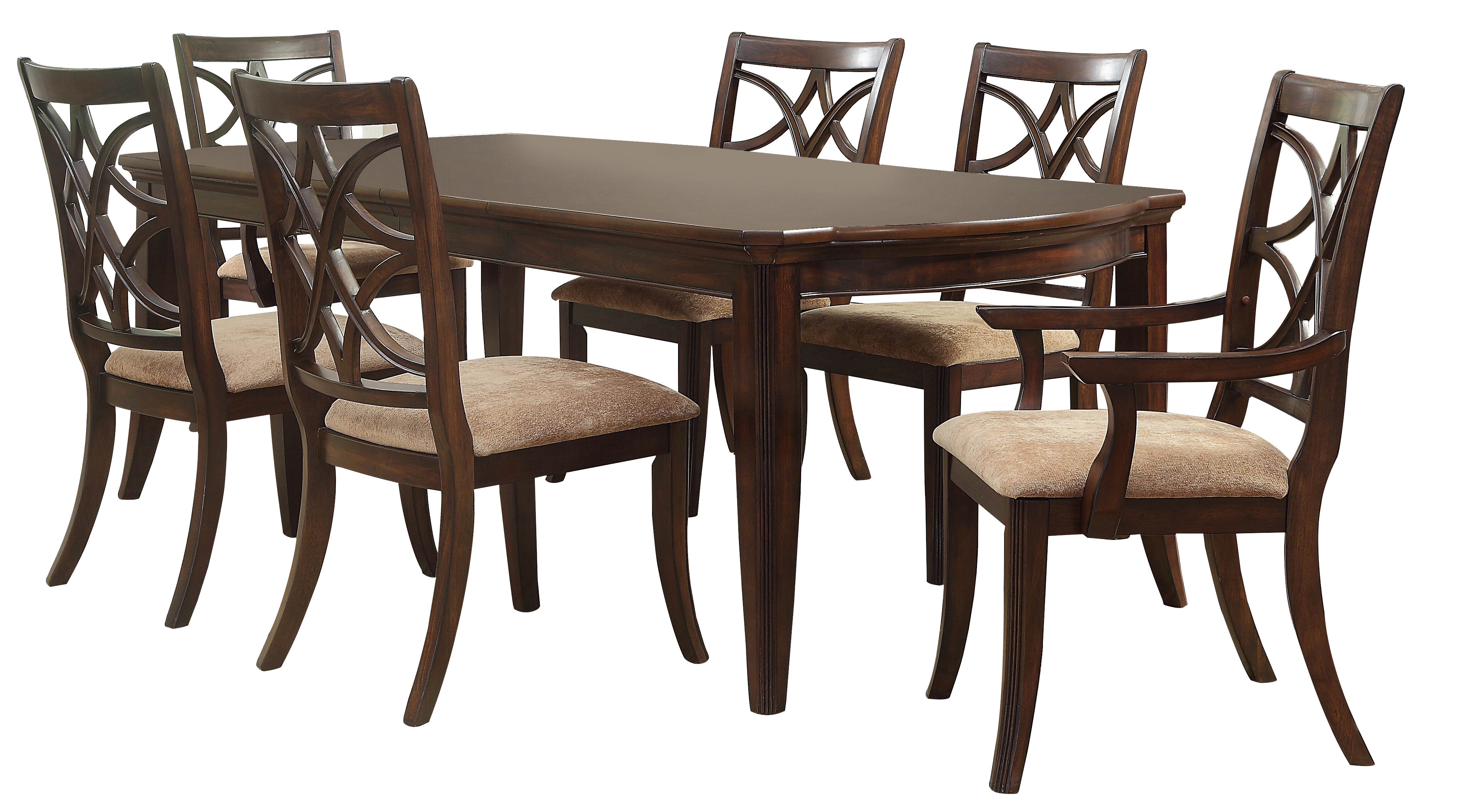 Most Popular Laconia 7 Pieces Solid Wood Dining Sets (set Of 7) With Darby Home Co Kinsman 7 Piece Extendable Dining Set (View 4 of 20)