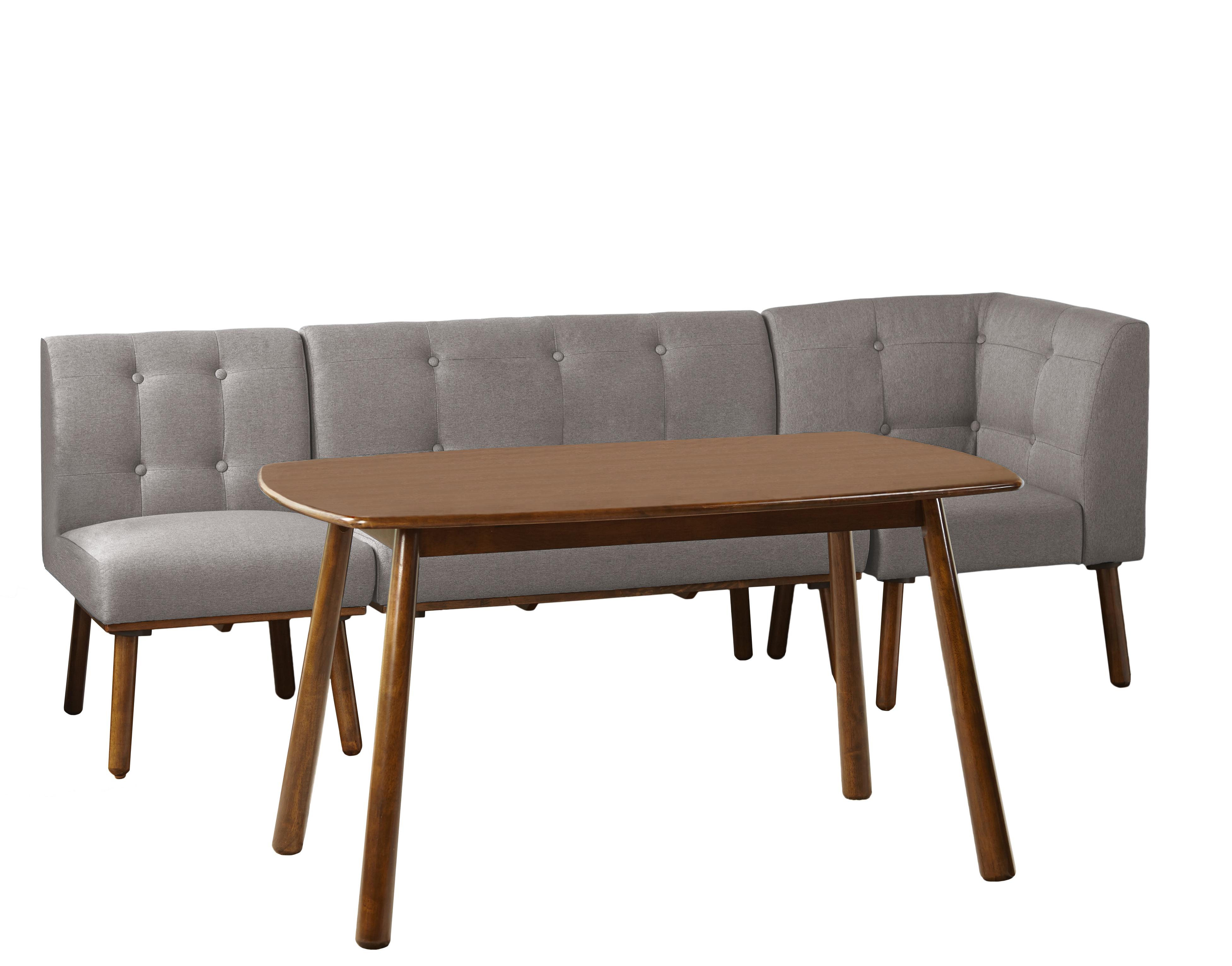Most Popular Lillard 3 Piece Breakfast Nook Dining Sets For Modern Rustic Interiors Bucci 4 Piece Breakfast Nook Dining Set (View 12 of 20)