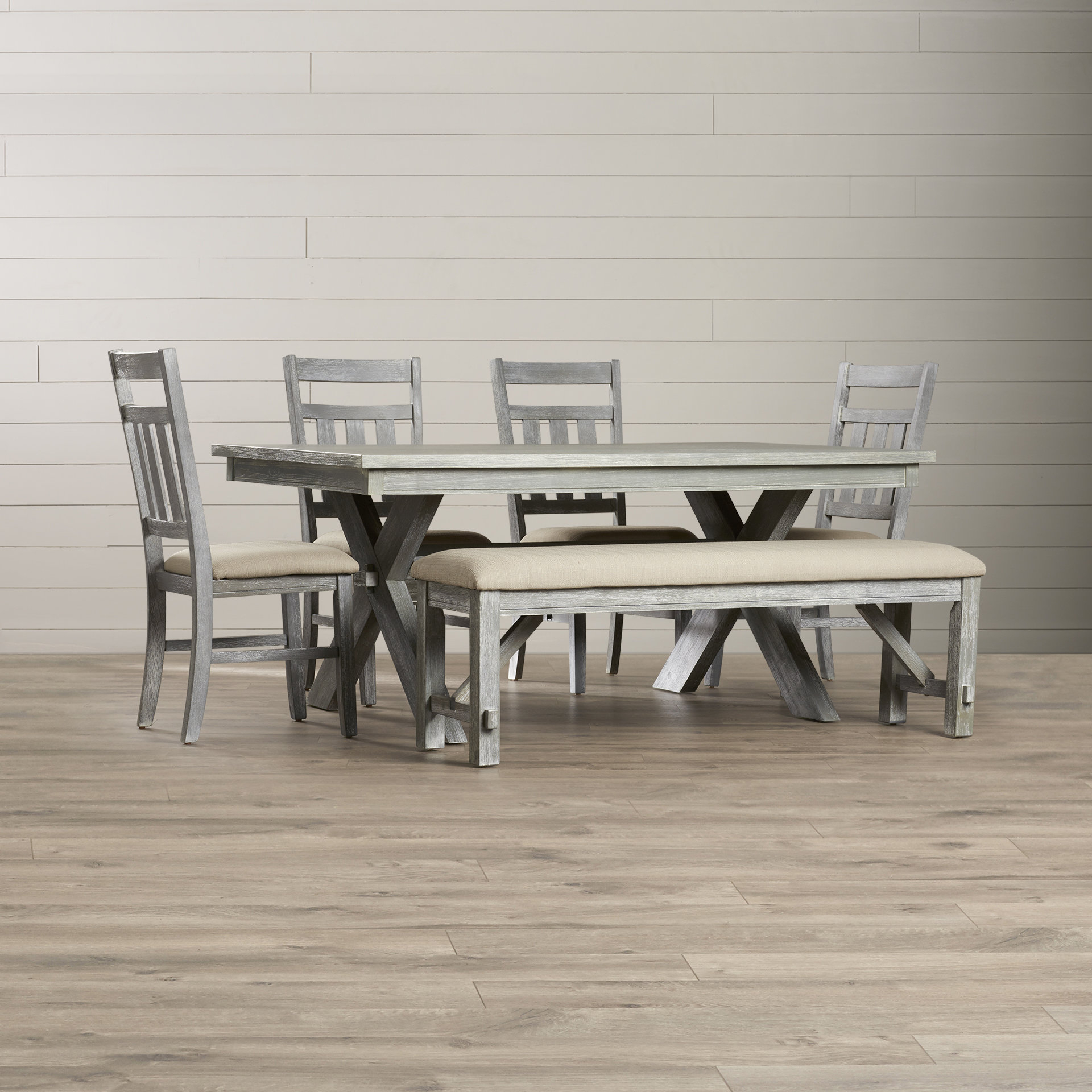 Most Popular Osterman 6 Piece Extendable Dining Sets (Set Of 6) With Regard To Quentin 6 Piece Dining Set (View 7 of 20)